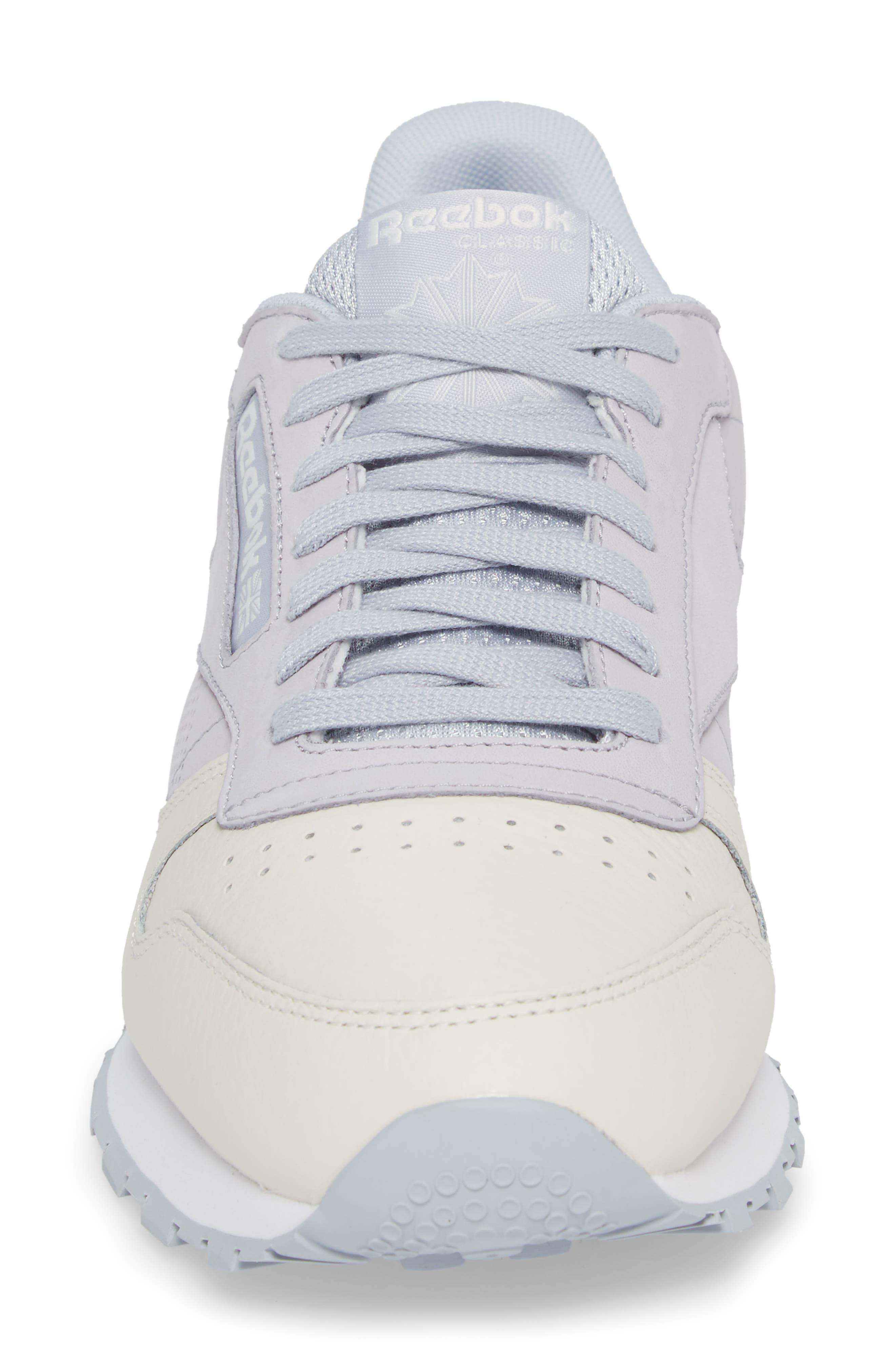 Classic Leather UE Sneaker,                             Alternate thumbnail 4, color,                             Grey/ Chalk/ Stark Grey/ White