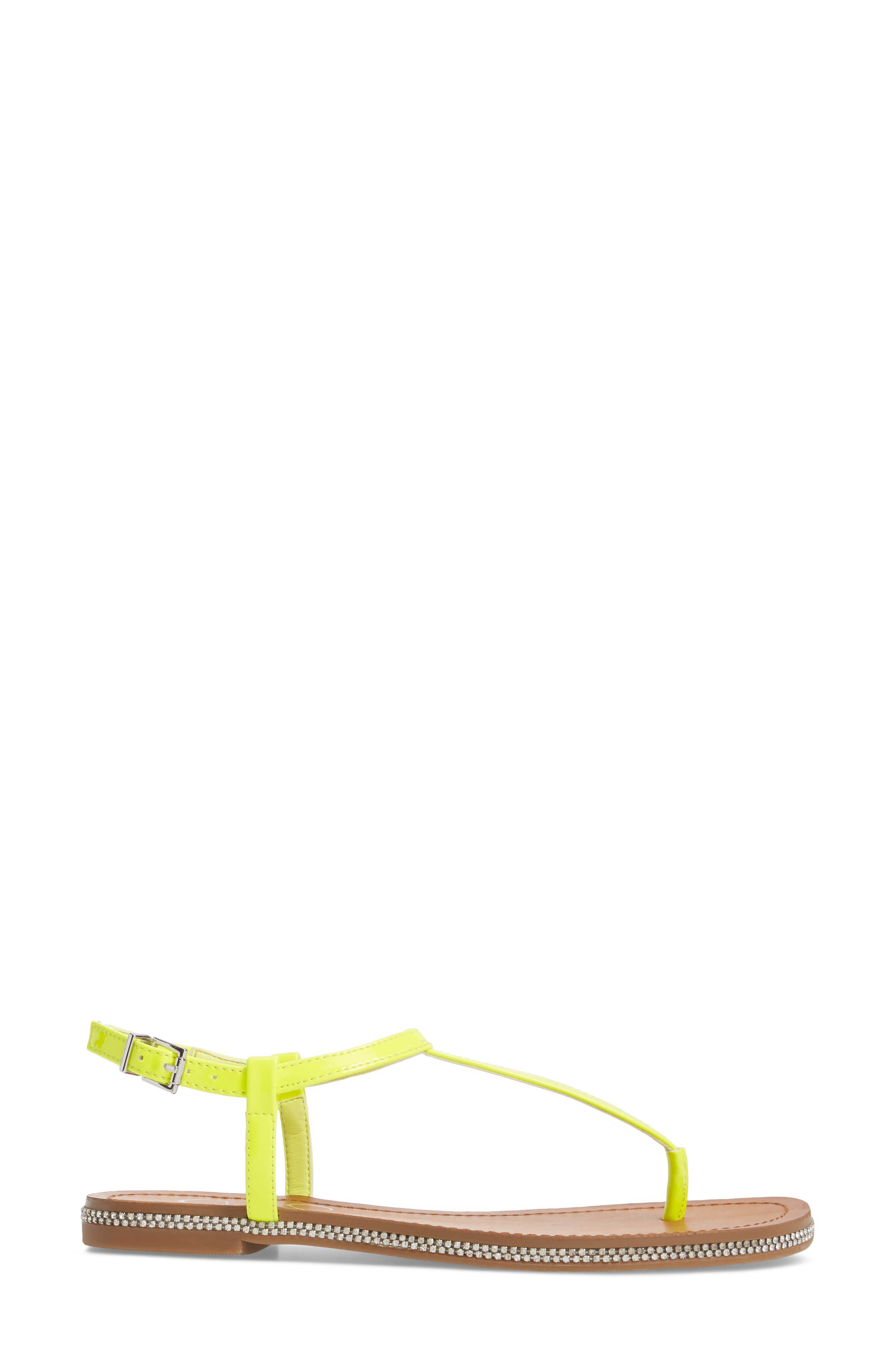 Brimah Sandal,                             Alternate thumbnail 3, color,                             Yellow Shock