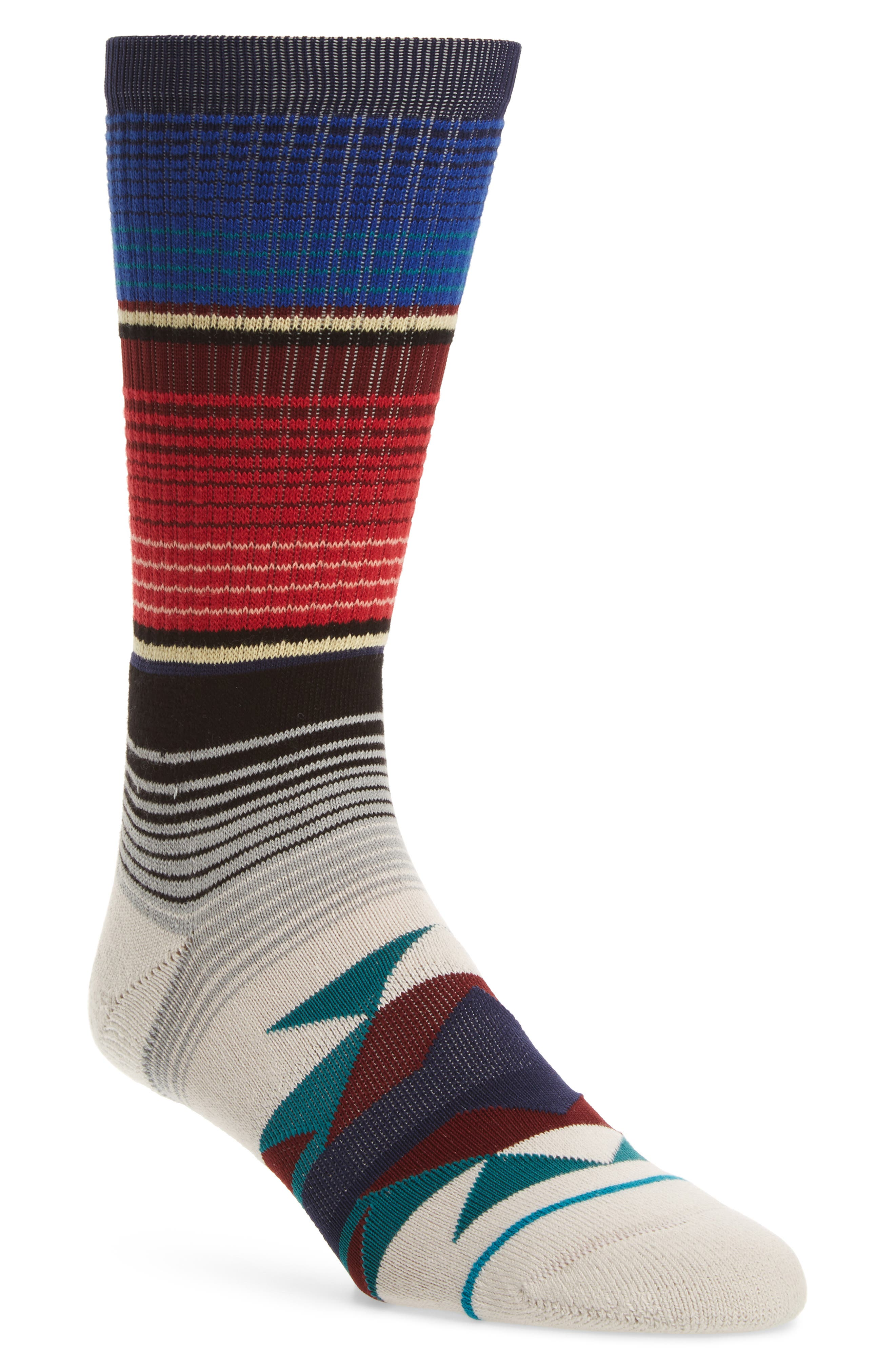 San Blas Crew Socks,                         Main,                         color, Teal