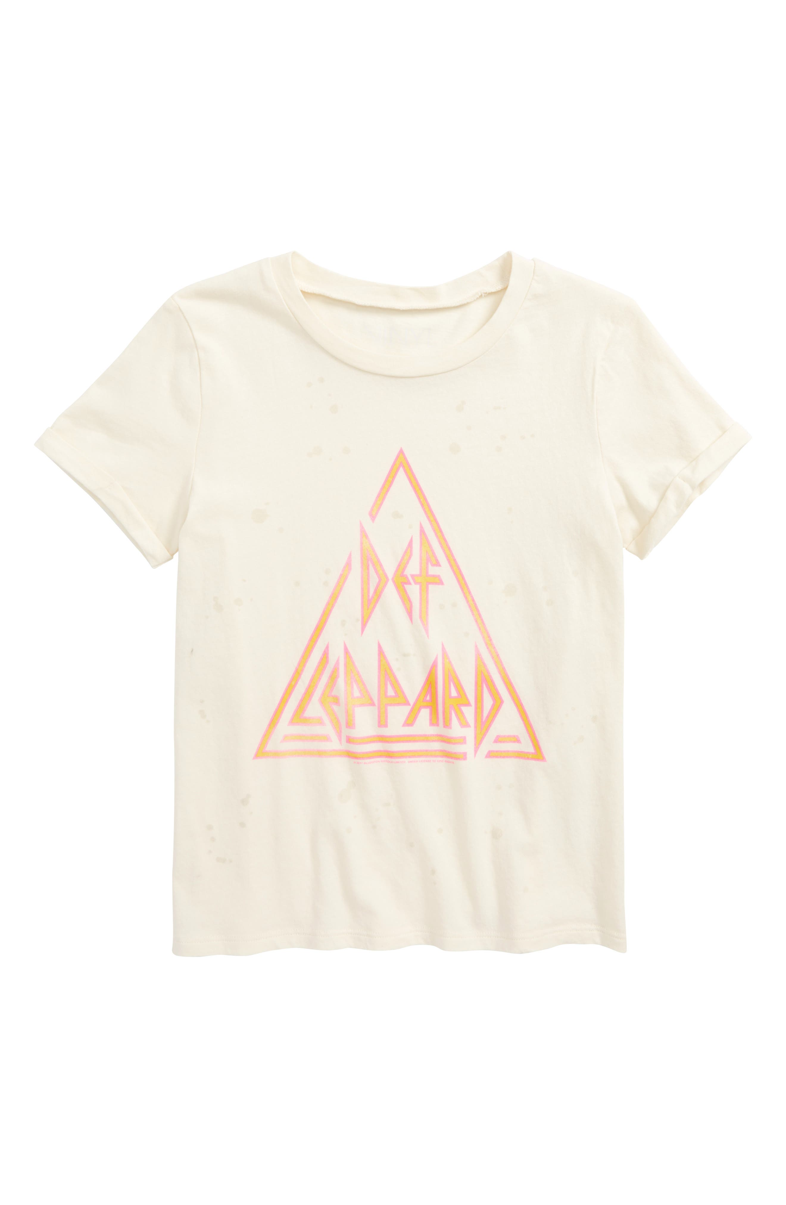 Def Leppard Graphic Tee,                             Main thumbnail 1, color,                             Ivory
