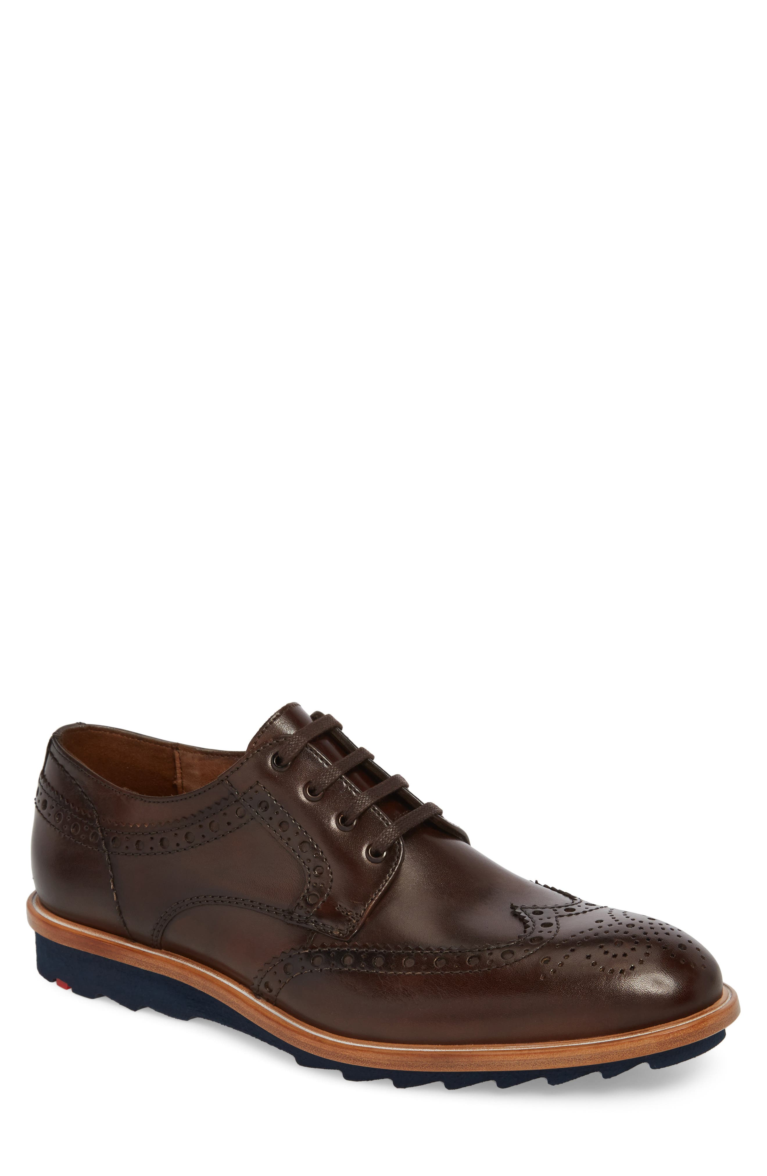 Fairbanks Wingtip,                             Main thumbnail 1, color,                             Brown Leather