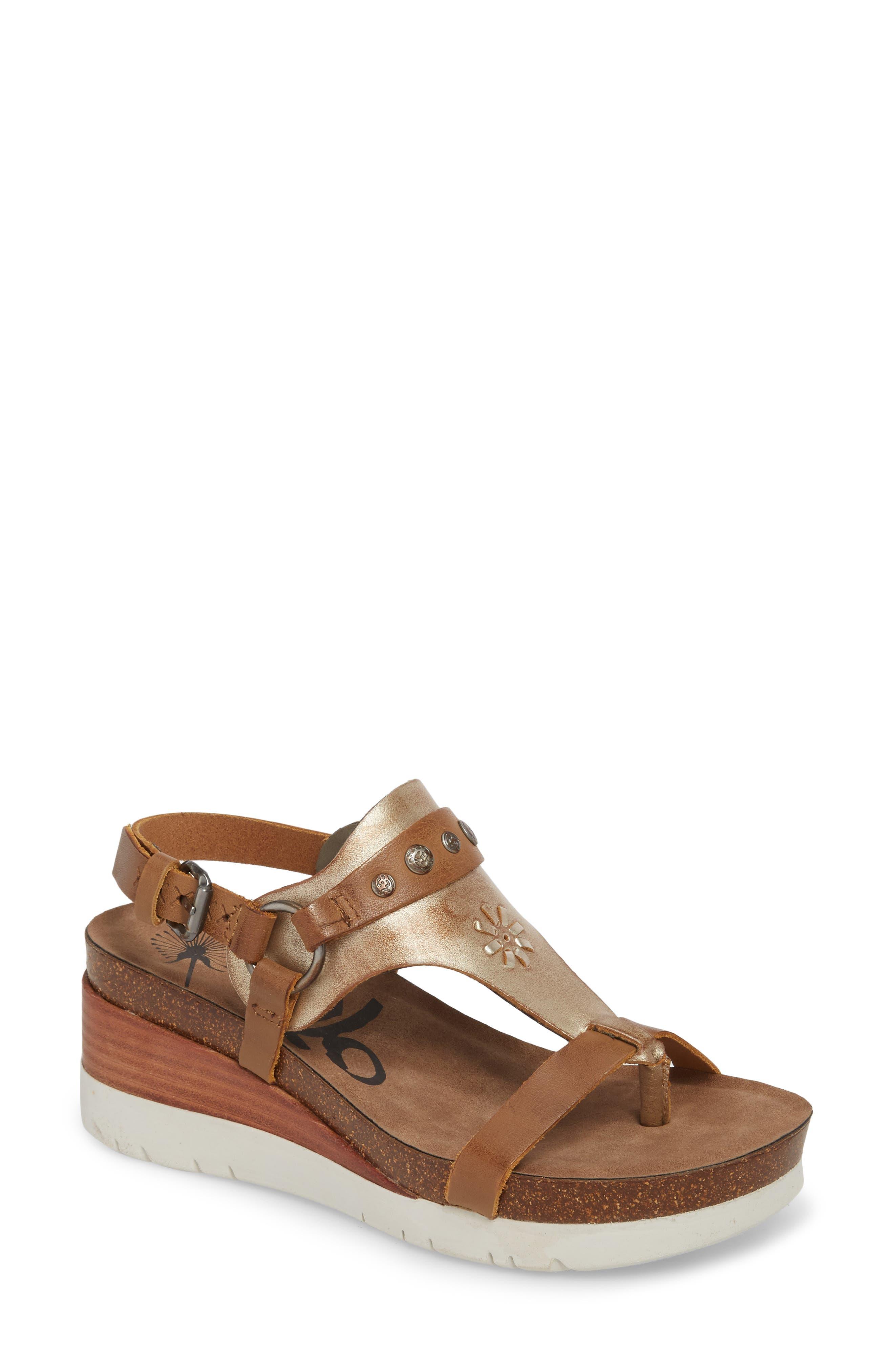 Maverick Wedge Sandal,                         Main,                         color, New Taupe Leather
