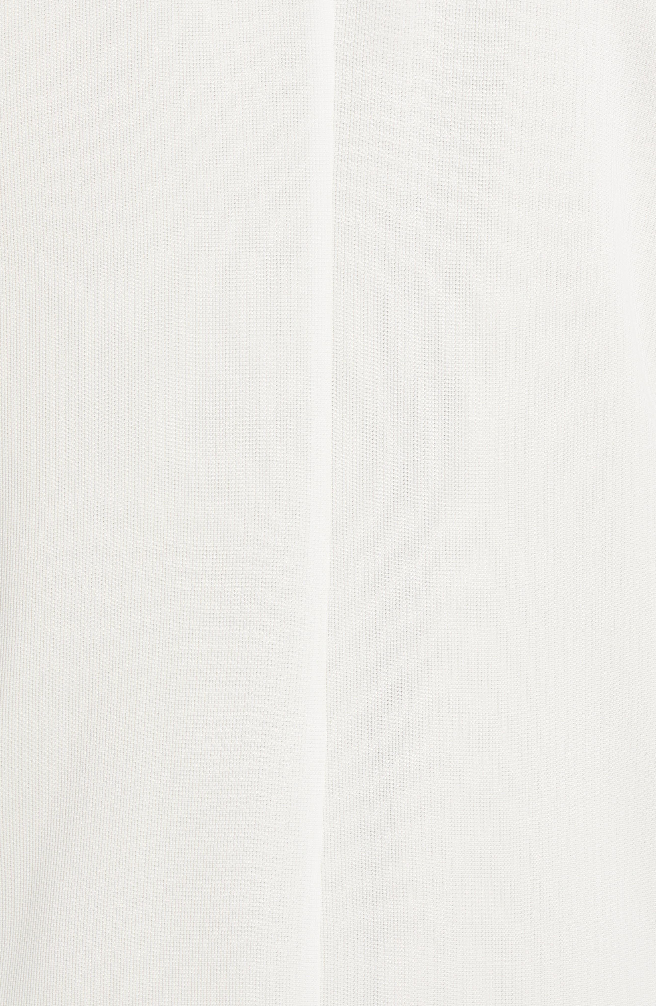 Long Tencel<sup>®</sup> Lyocell Jacket,                             Alternate thumbnail 6, color,                             White