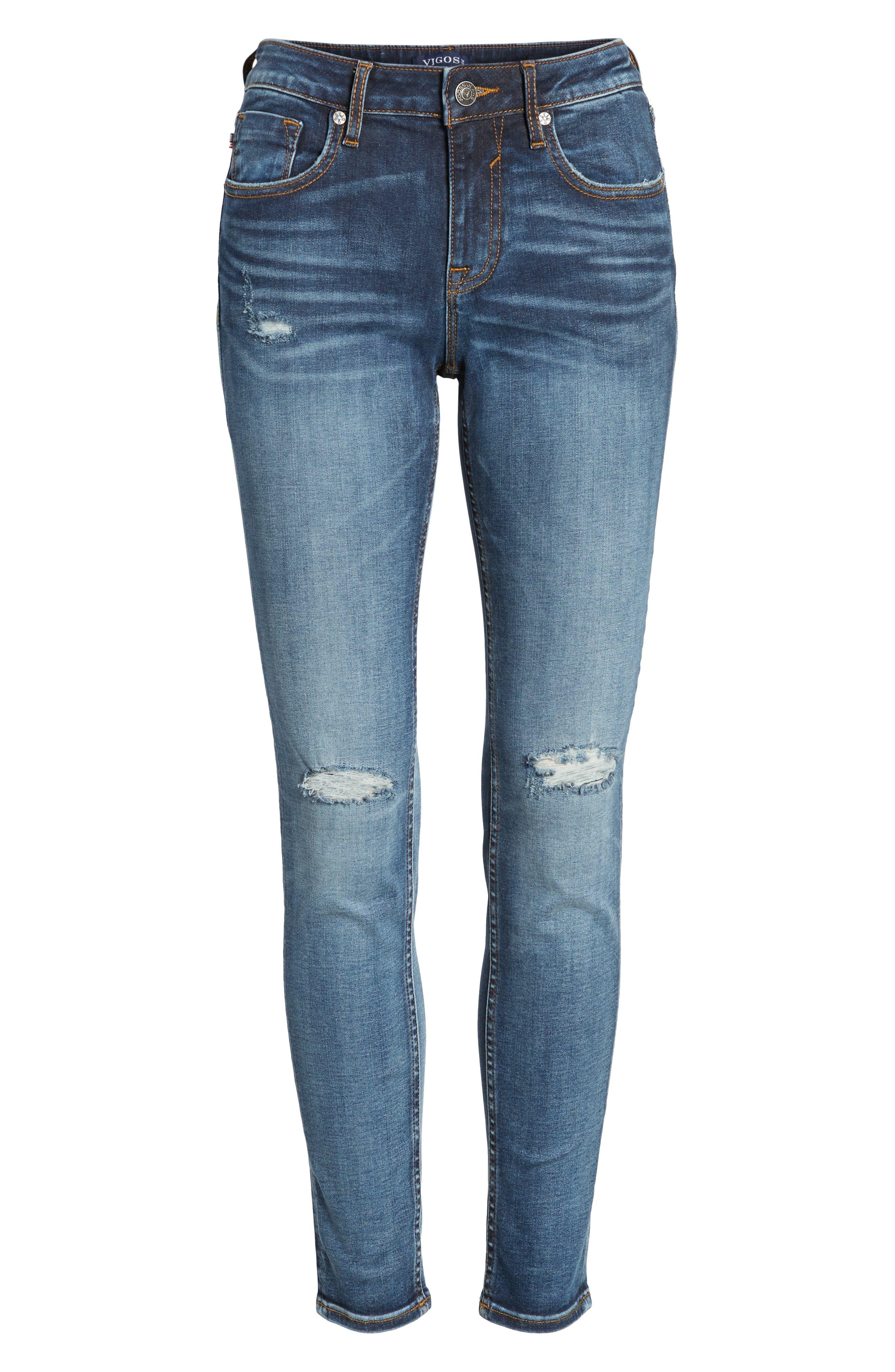 Alternate Image 6  - Vigoss Jagger Ripped Skinny Jeans