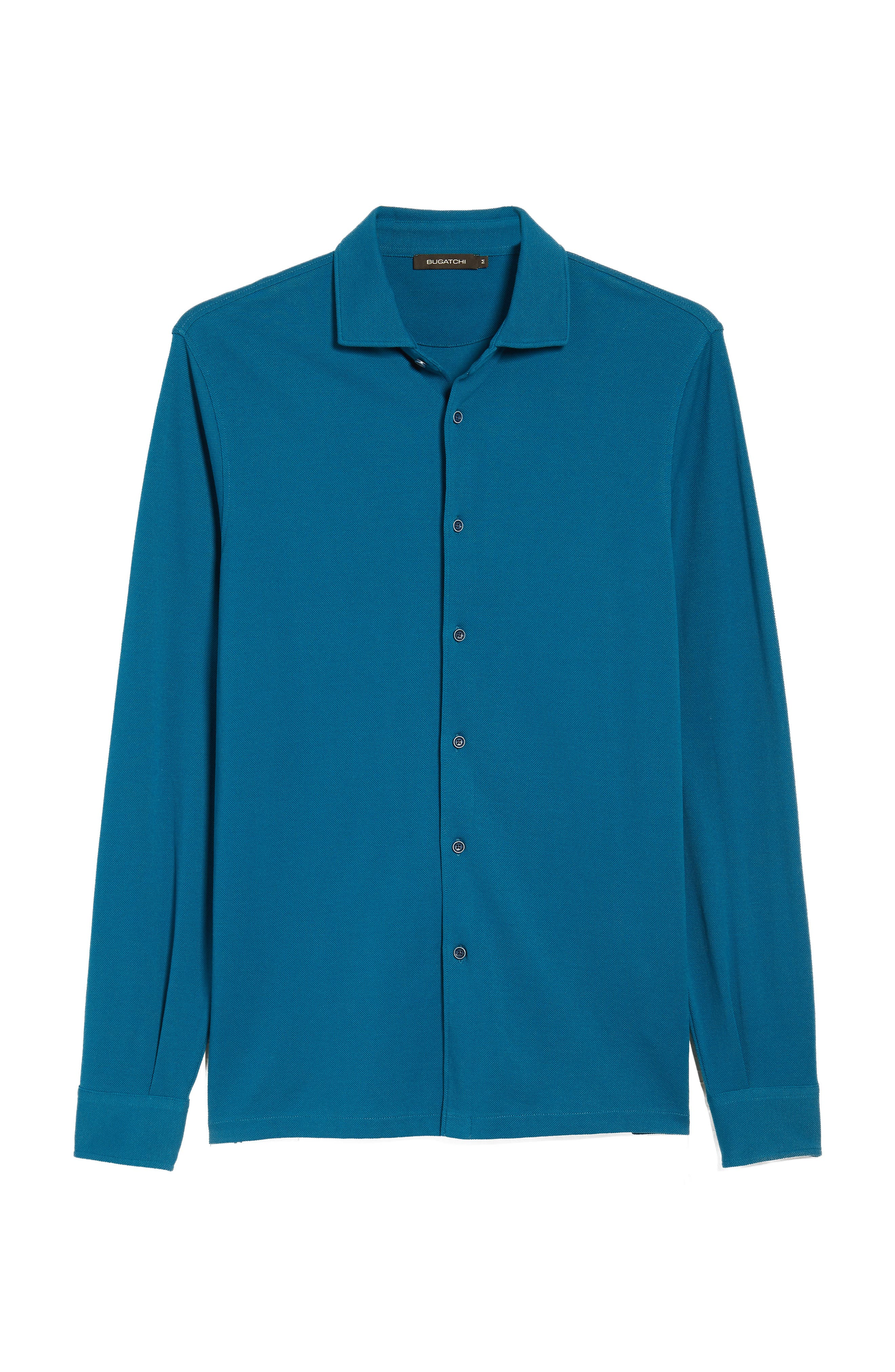 Regular Fit Knit Sport Shirt,                             Alternate thumbnail 6, color,                             Teal