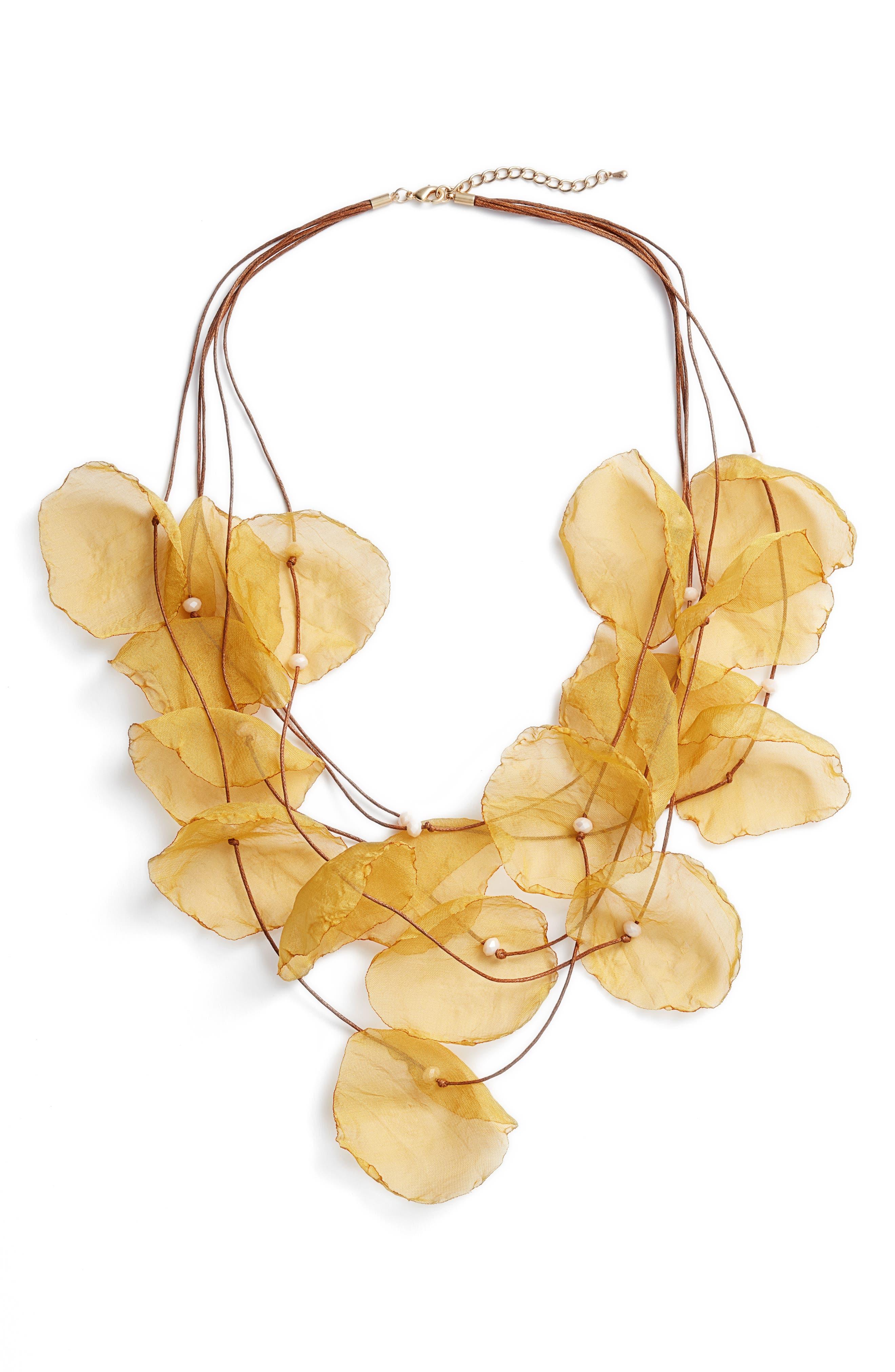 Stella + Ruby Chiffon Flower Statement Necklace