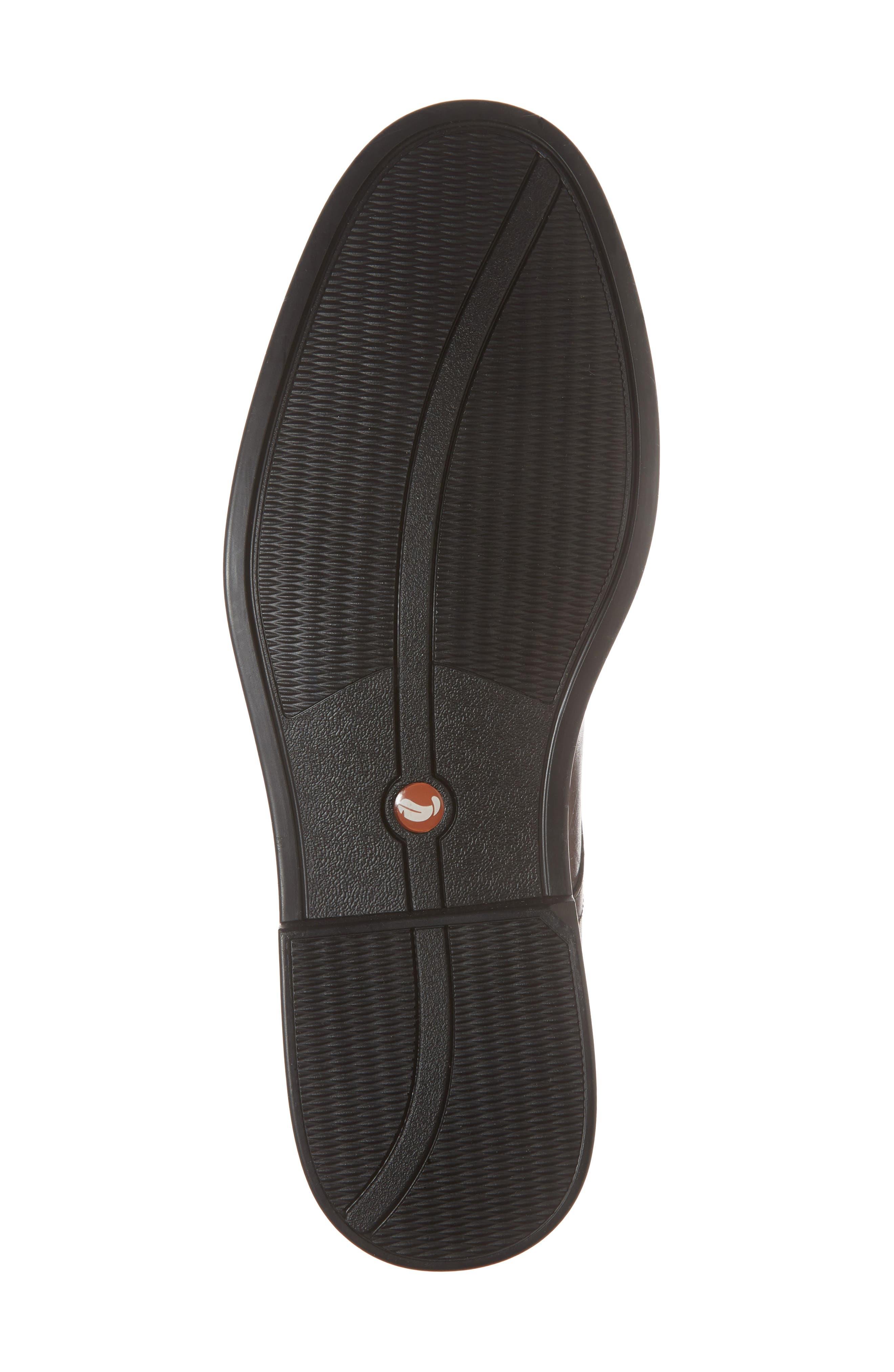 Unaldric Plain Toe Derby,                             Alternate thumbnail 6, color,                             Dark Tan Leather