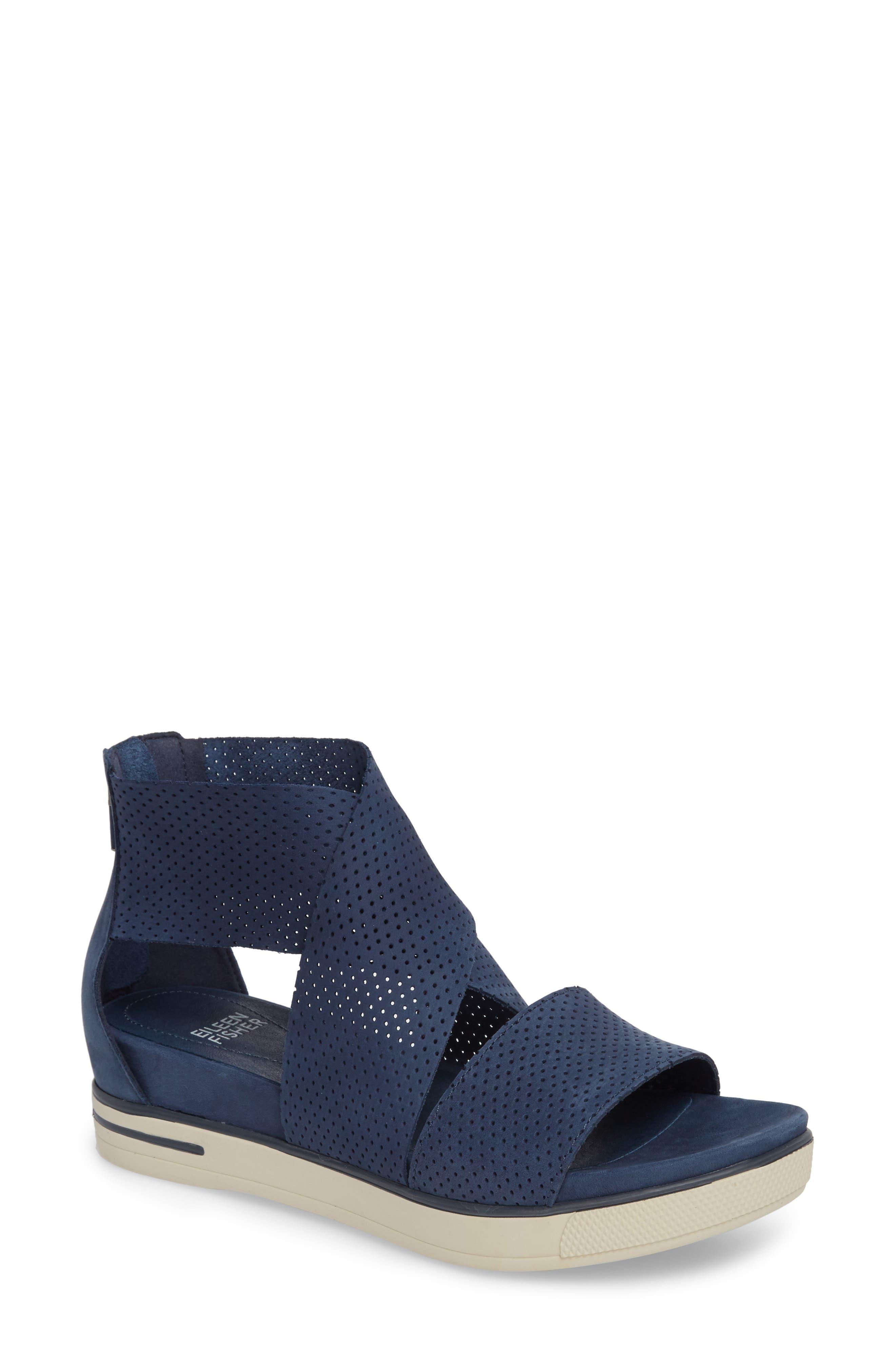 Sport Platform Sandal,                         Main,                         color, Denim Nubuck