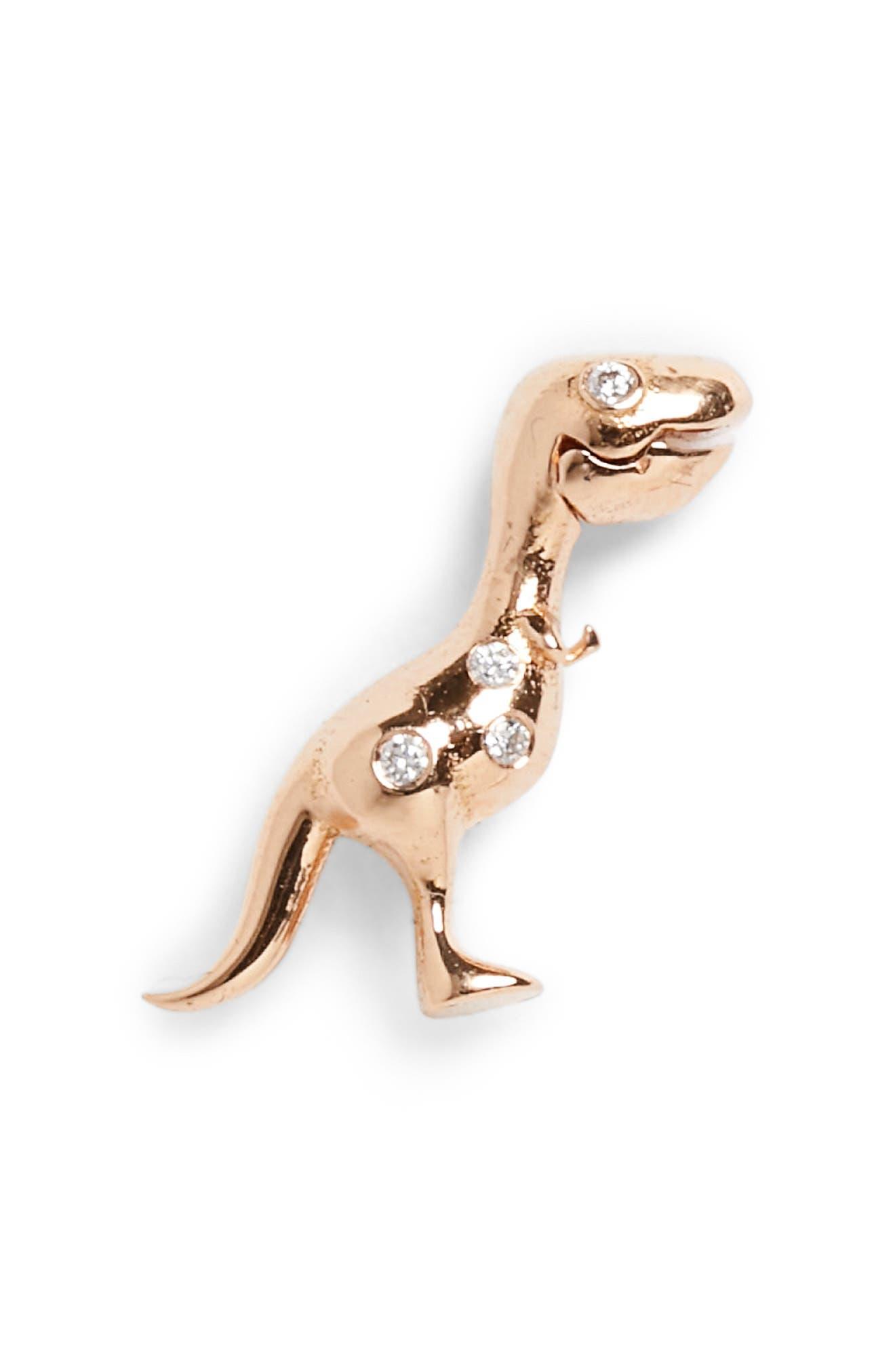 "Daniela Villegas x ""Jurassic Park"" 25th Anniversary Baby T-Rex Stud Earring (Nordstrom Exclusive)"