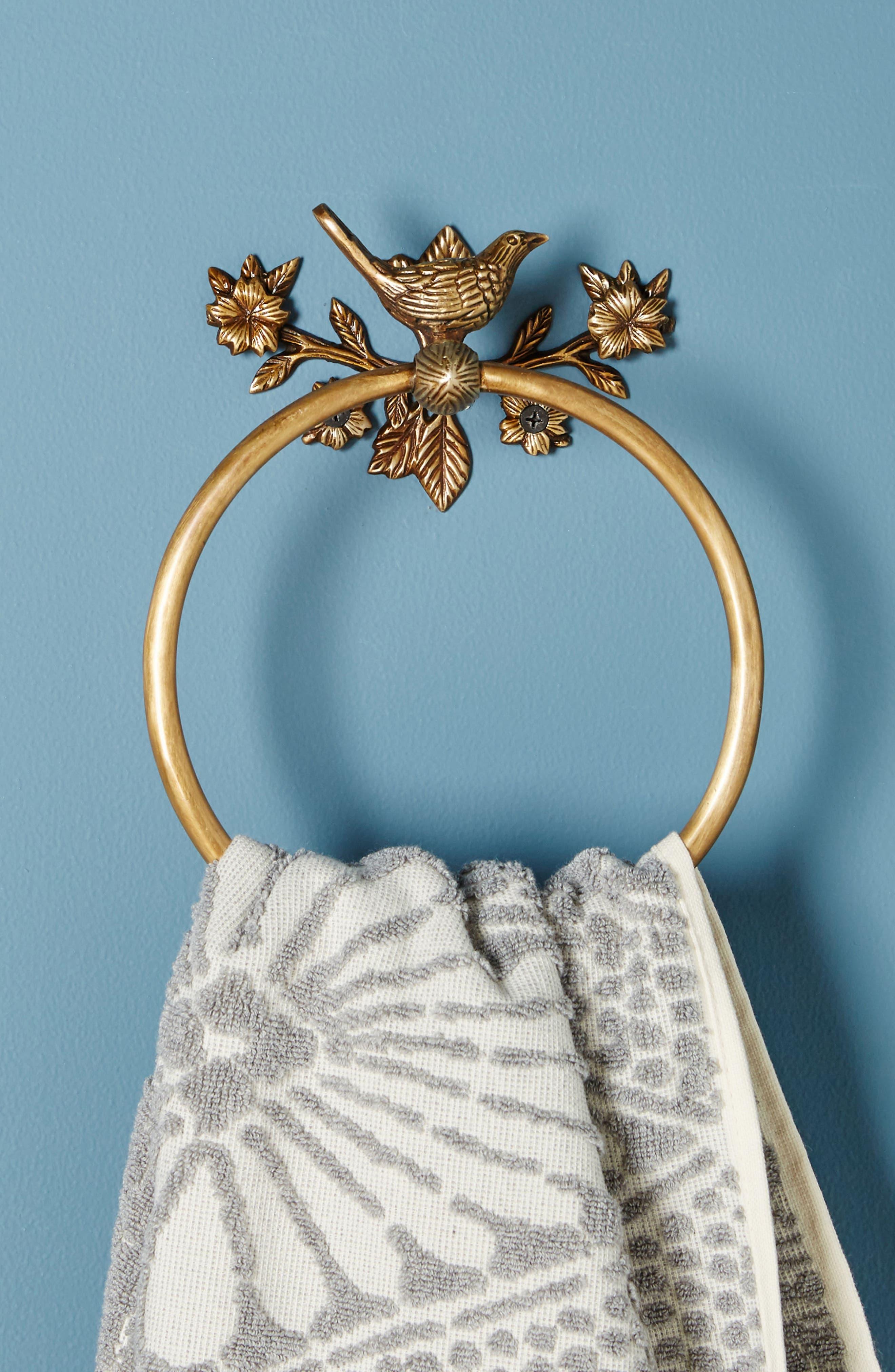 Everlee Towel Ring,                             Alternate thumbnail 3, color,                             Bronze