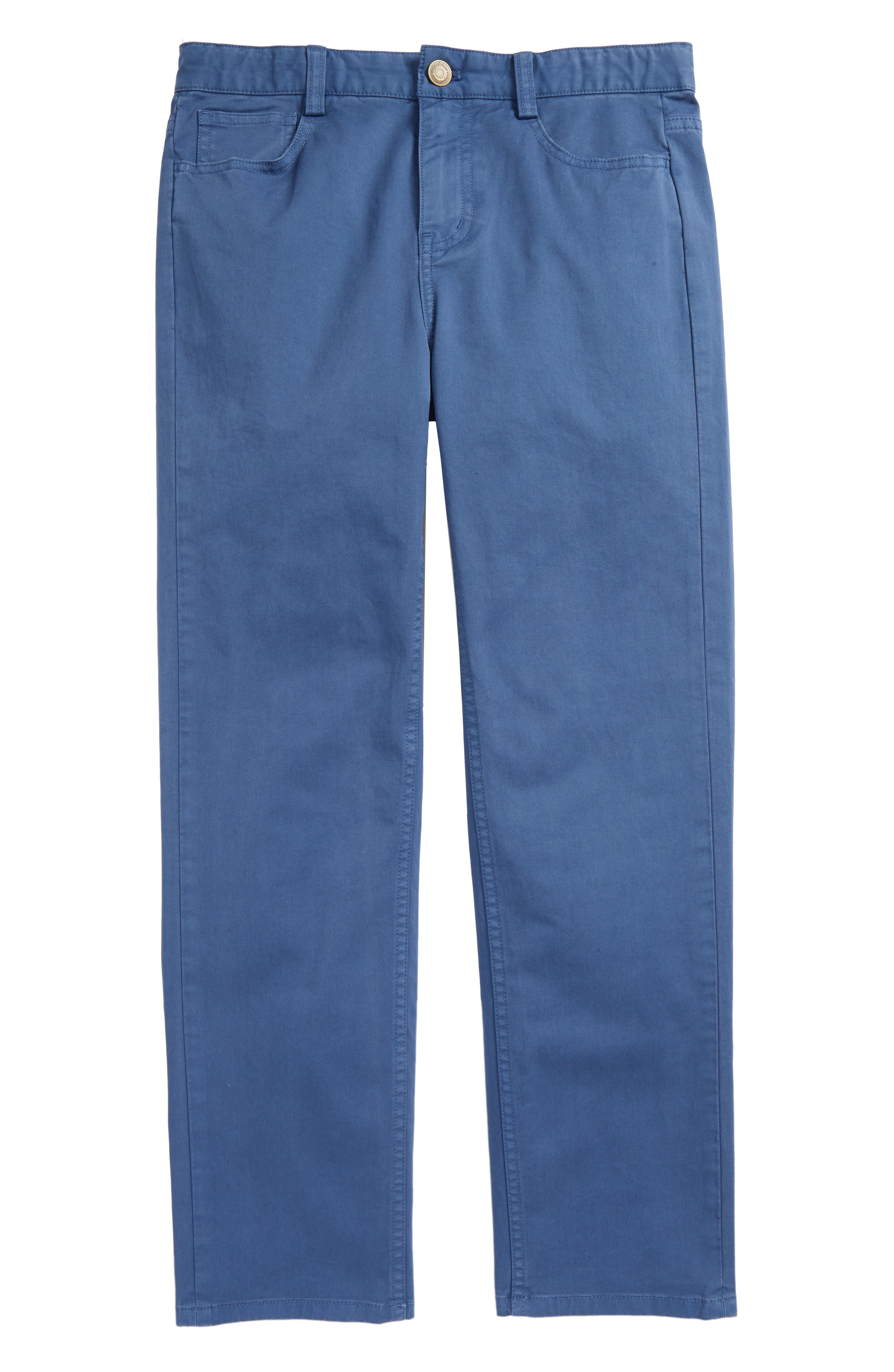 Stretch Twill Pants,                         Main,                         color, Moonshine