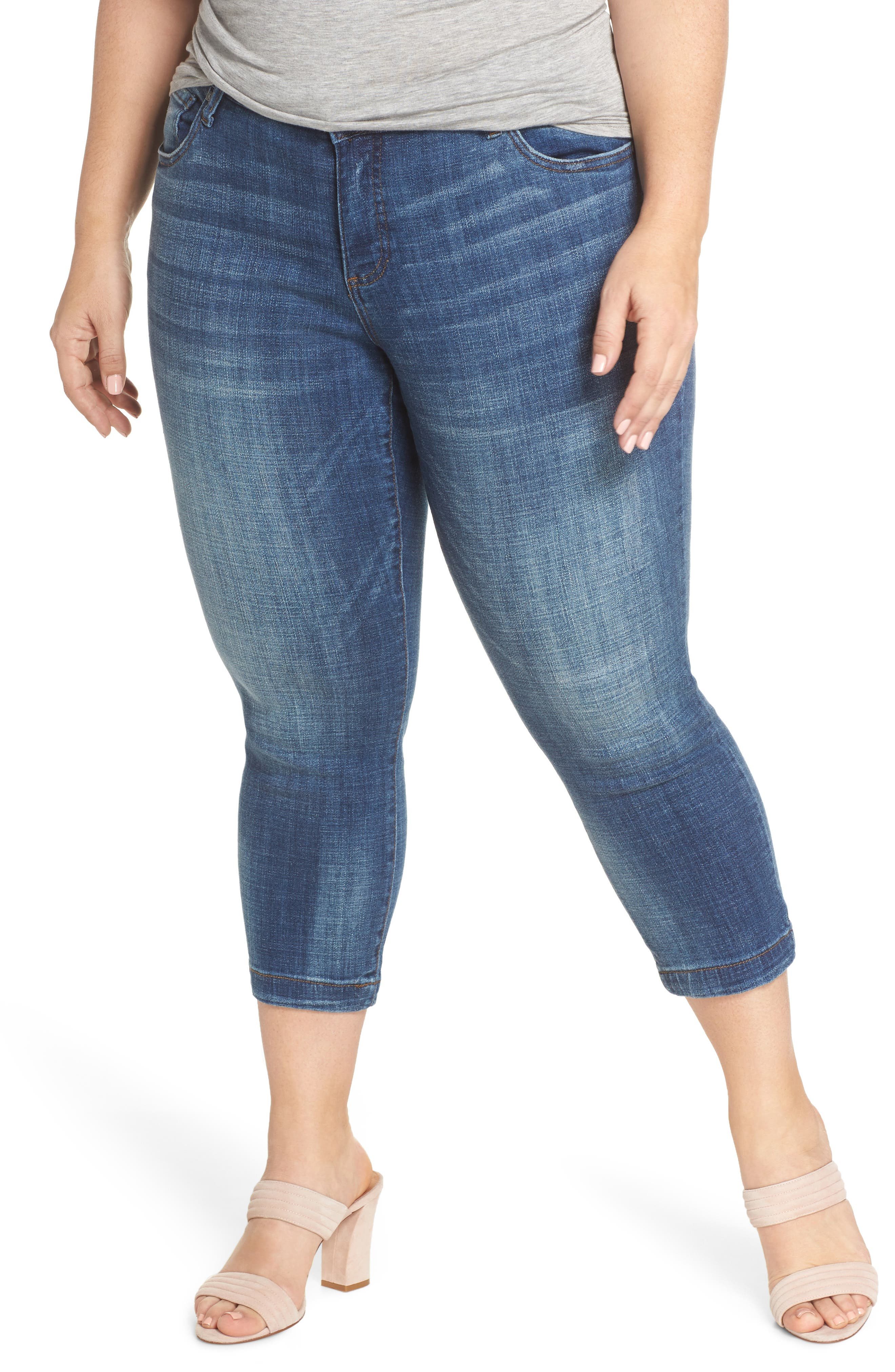 KUT from the Kloth Lauren Crop Jeans (Entrusted) (Plus Size)