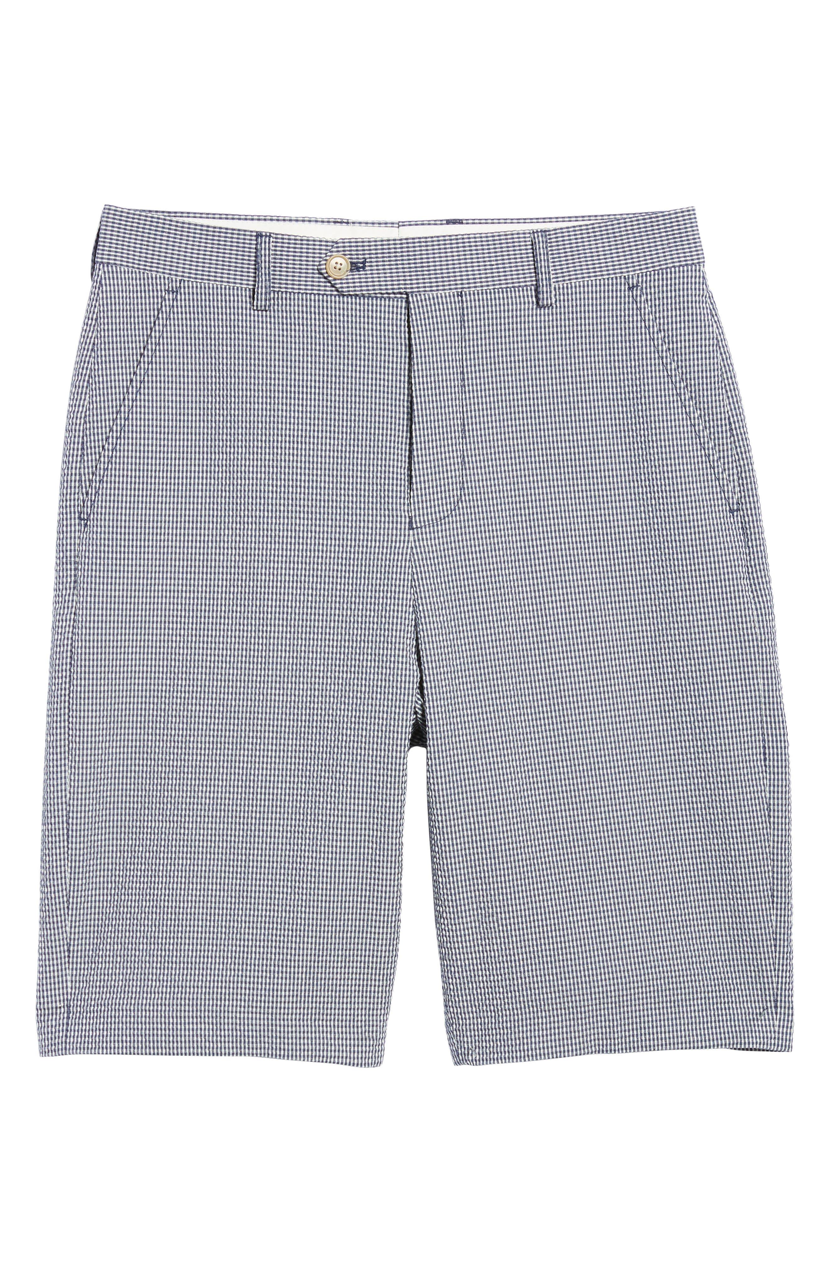 Stretch Seersucker Shorts,                             Alternate thumbnail 6, color,                             Marine Blue