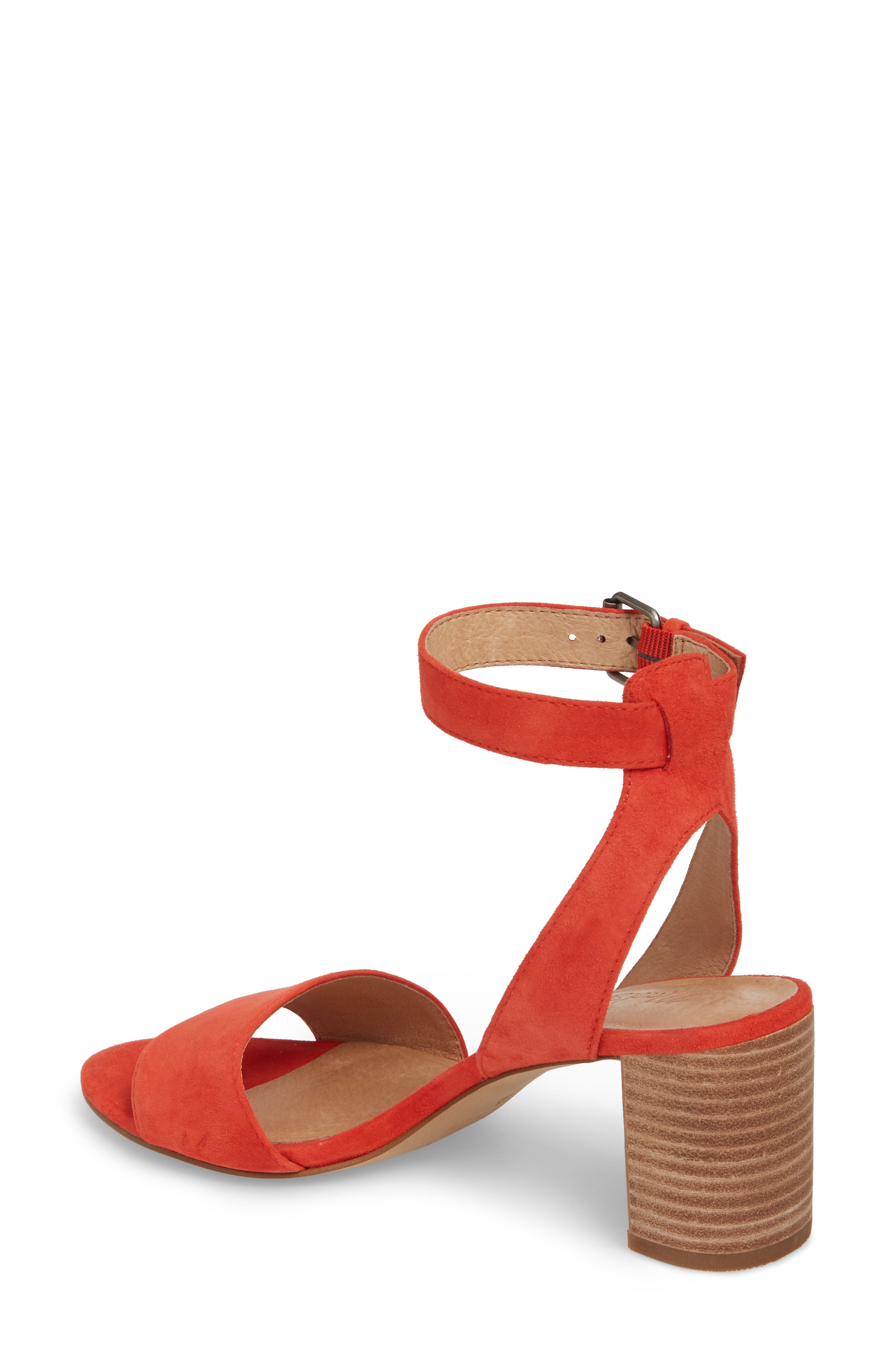 The Claudia Sandal,                             Alternate thumbnail 2, color,                             Siberian Red Suede