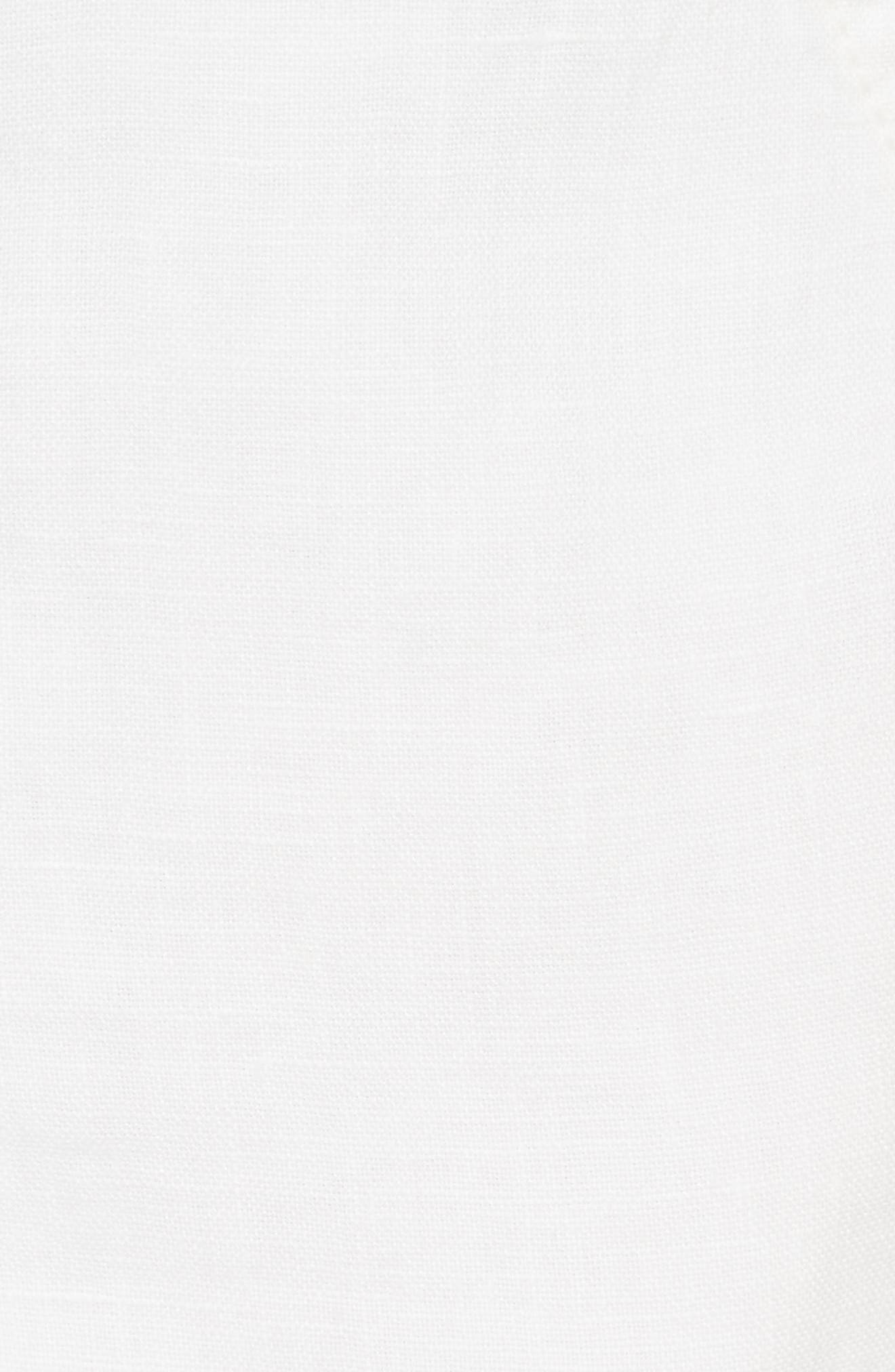 Fosette Linen Drawstring Shorts,                             Alternate thumbnail 5, color,                             Porcelain