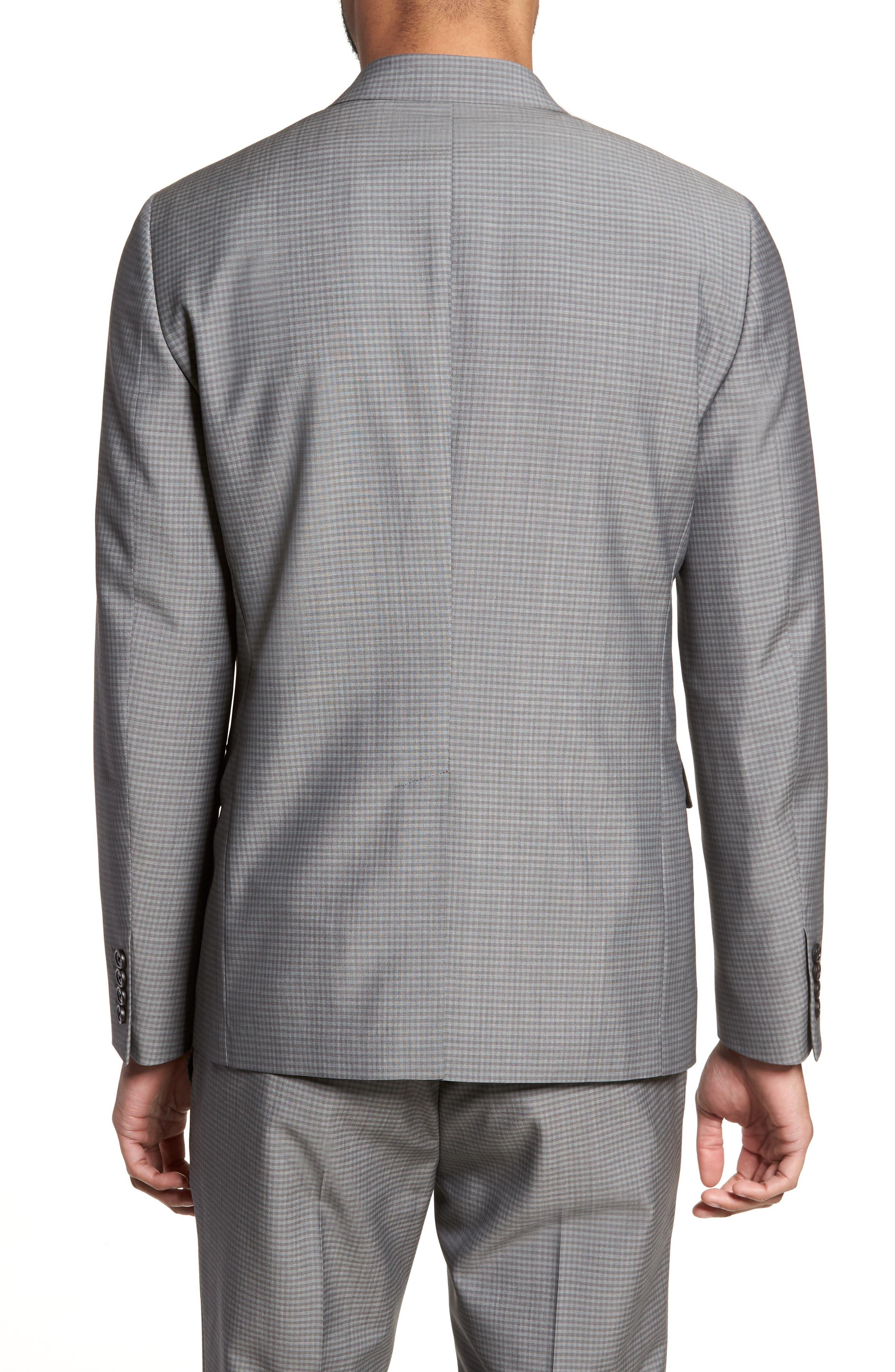 Gansevoort Trim Fit Check Wool Sport Coat,                             Alternate thumbnail 2, color,                             Dove Multi