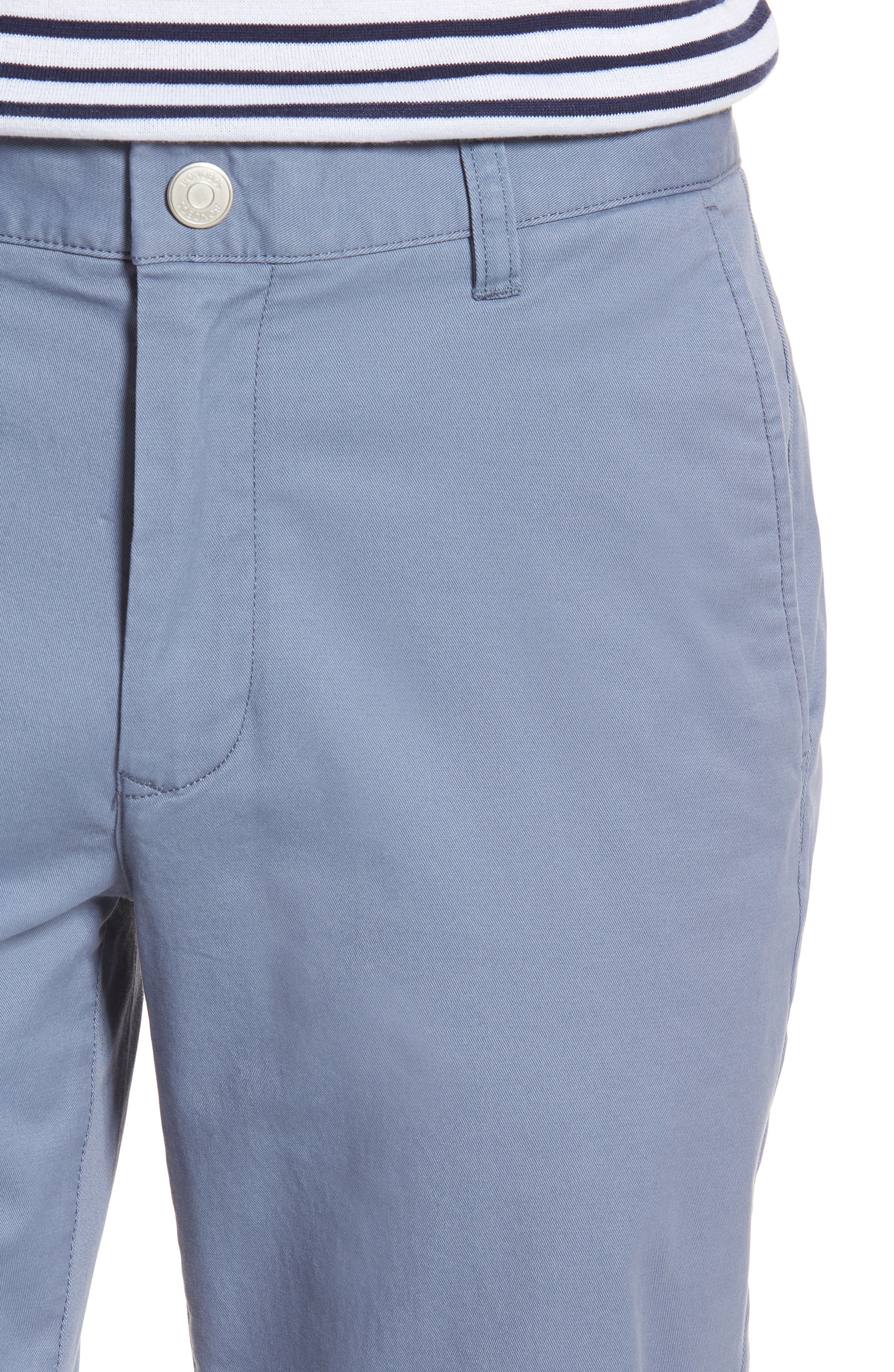 Straight Leg Stretch Washed Chinos,                             Alternate thumbnail 4, color,                             Tempest Purple