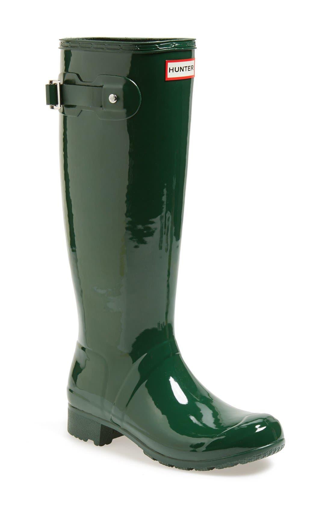 Alternate Image 1 Selected - Hunter Original Tour Gloss Packable Rain Boot (Women)