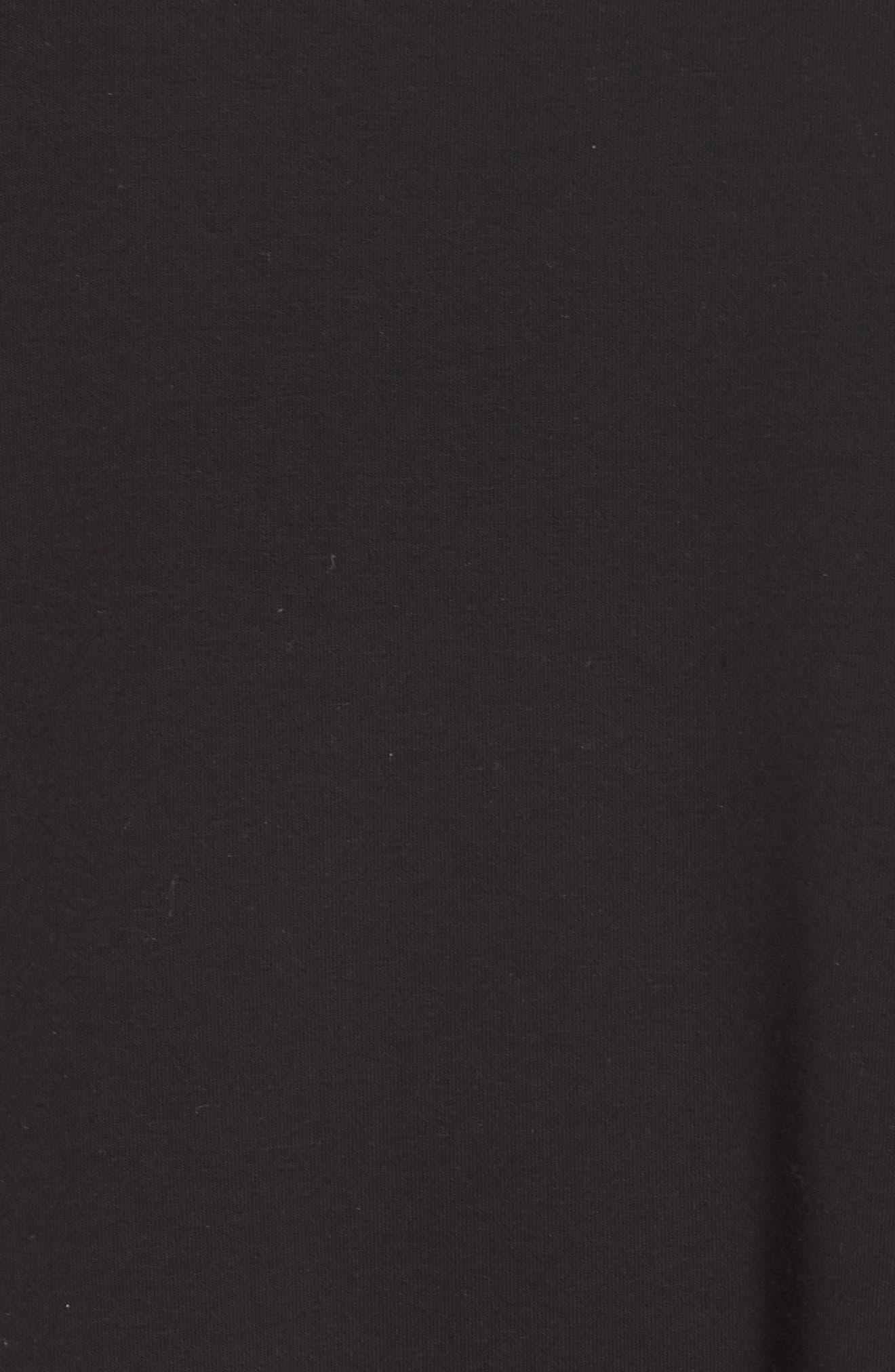 Knit Jersey Dress,                             Alternate thumbnail 5, color,                             Black