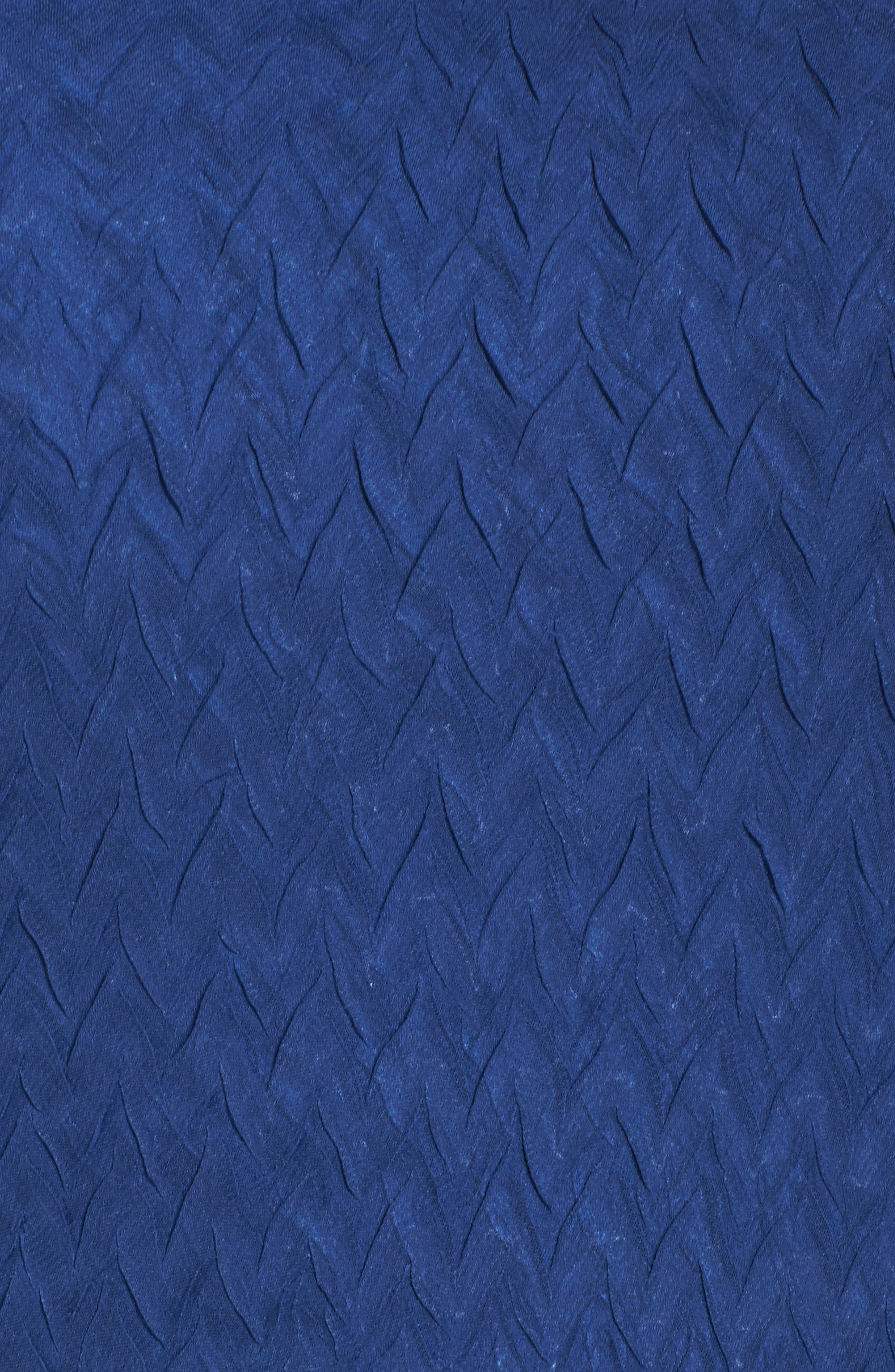 Charmeuse & Chiffon A-Line Dress,                             Alternate thumbnail 5, color,                             Navy Black Ombre