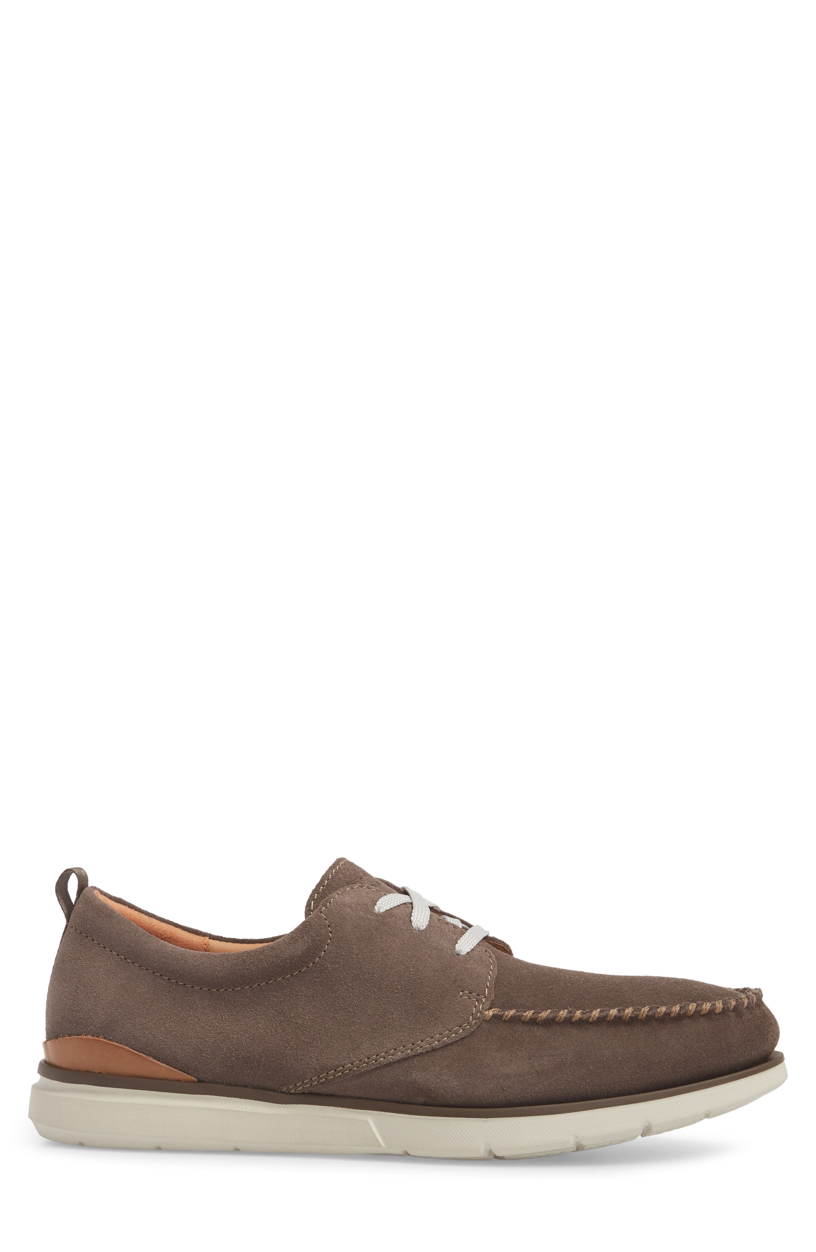 Edgewood Mix Moc Toe Derby,                             Alternate thumbnail 3, color,                             Taupe Suede