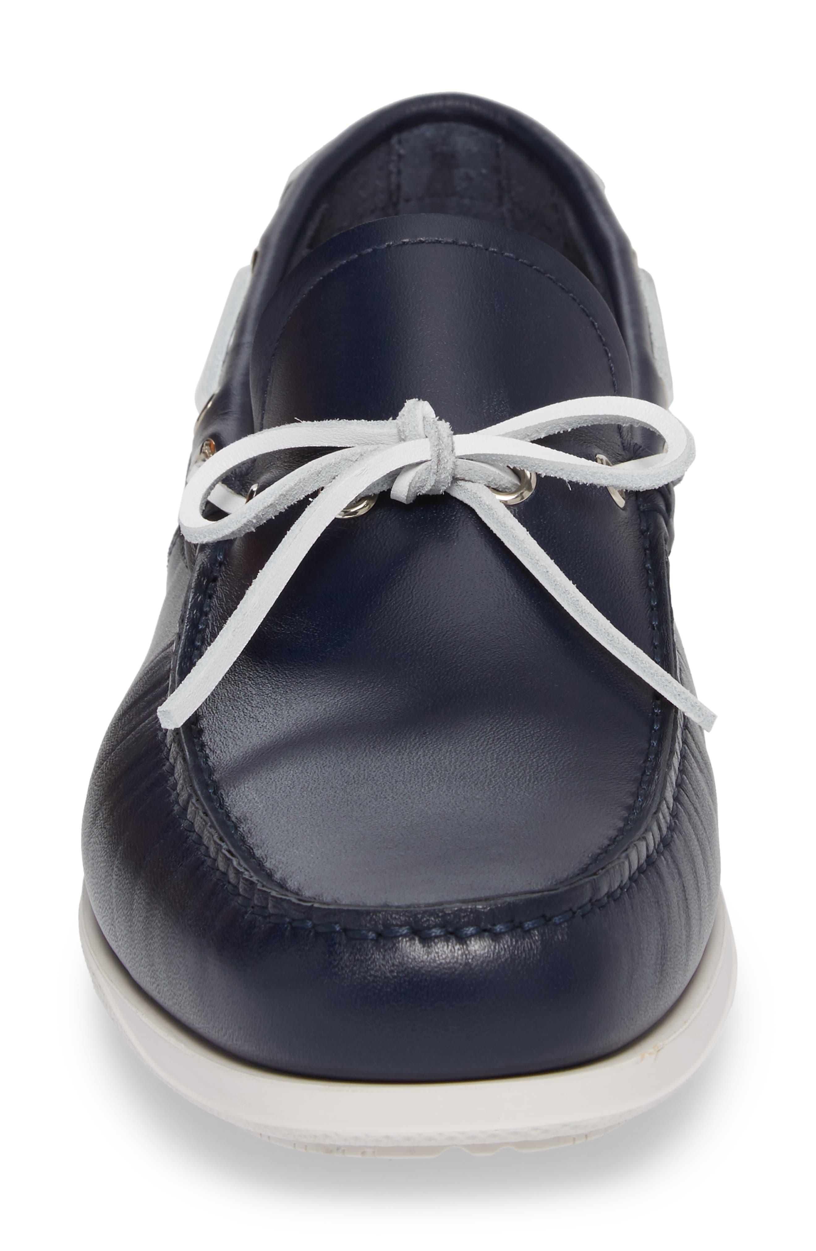 Caraibi Boat Shoe,                             Alternate thumbnail 4, color,                             Blue Marine