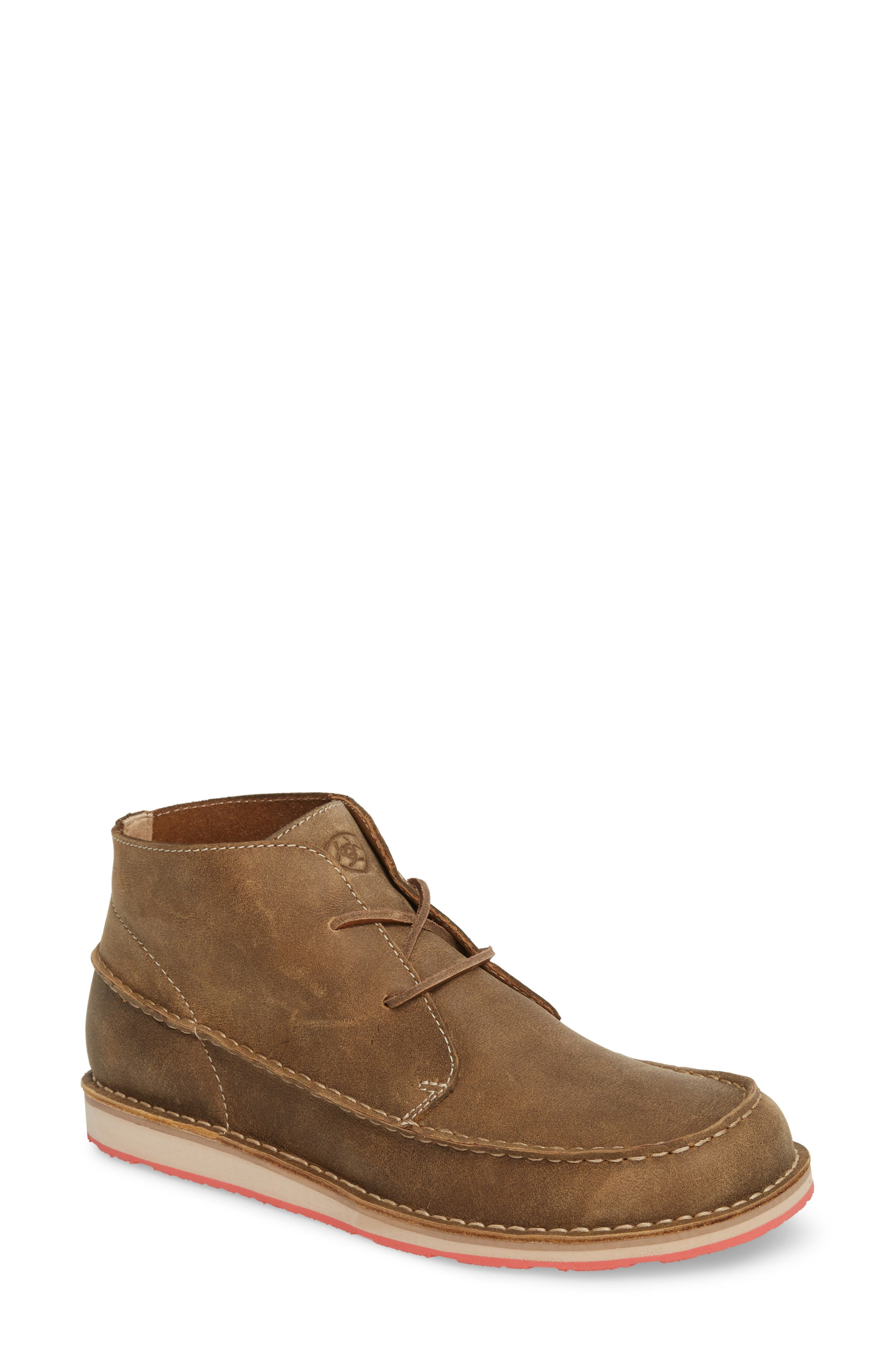 Cruiser Chukka Boot, Lace Brown Bomber Leather