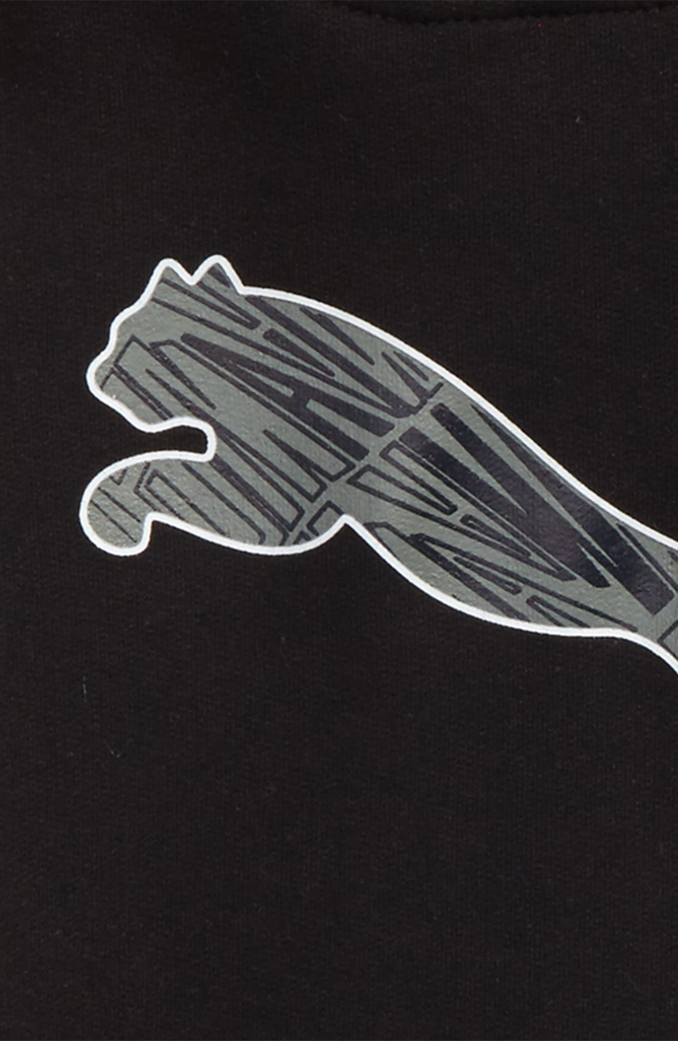 Dionis Logo Short Sleeve Hoodie,                             Alternate thumbnail 2, color,                             Puma Black