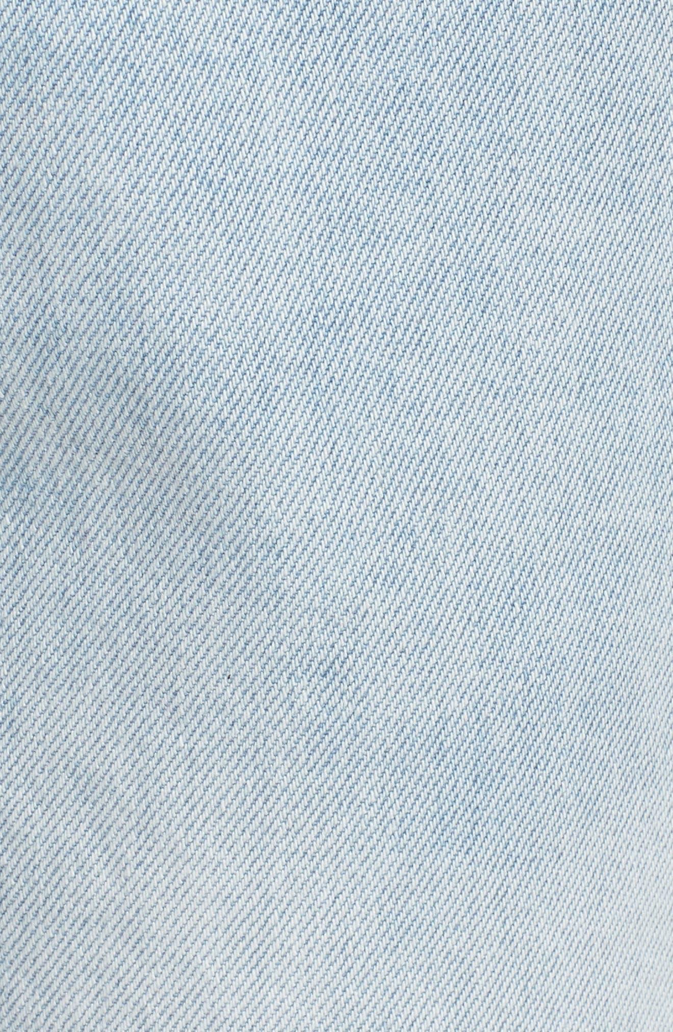 Stevie Ripped Crop Slim Boyfriend Jeans,                             Alternate thumbnail 6, color,                             Drift