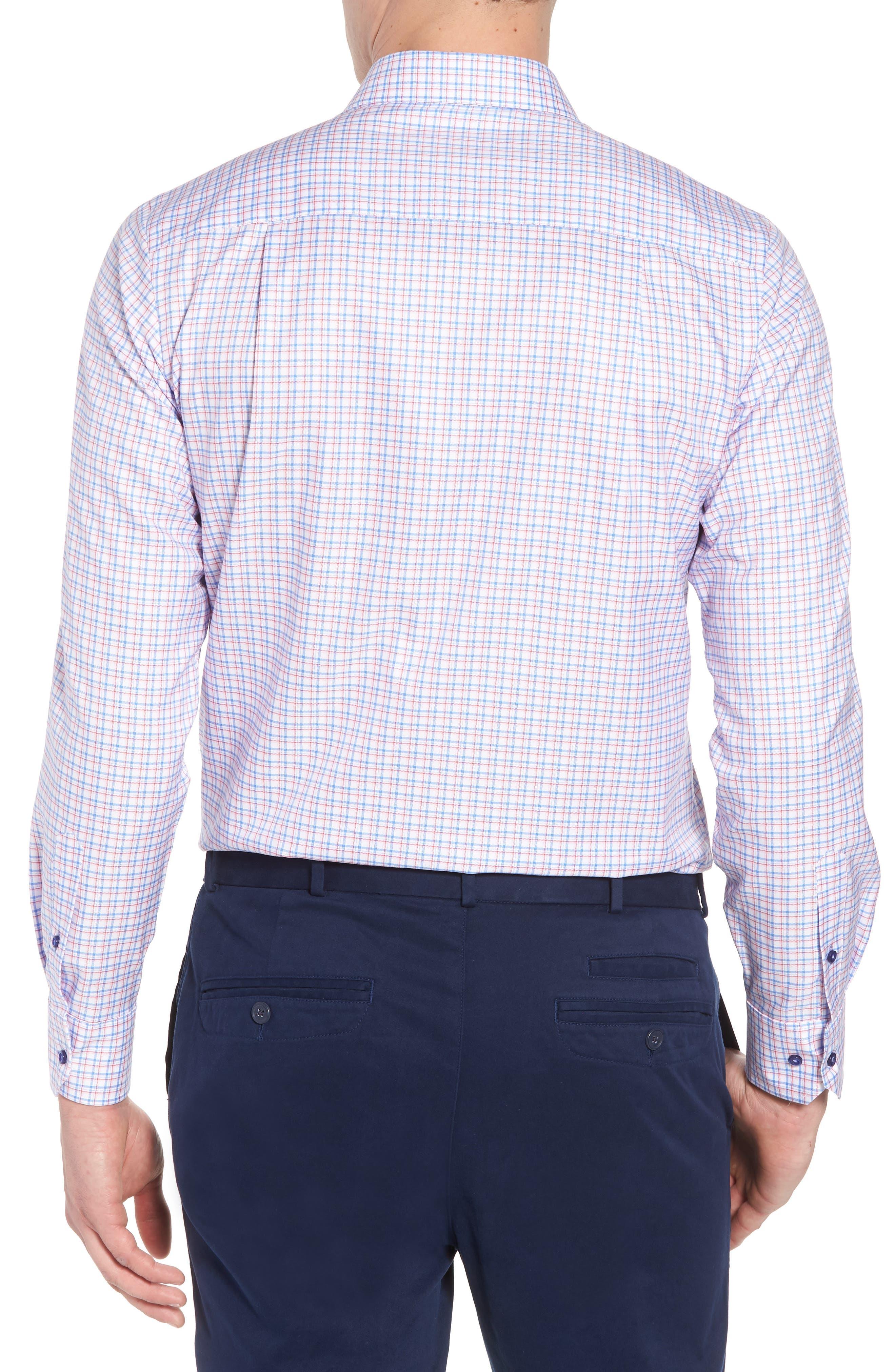 Regular Fit Check Sport Shirt,                             Alternate thumbnail 2, color,                             Blue/ Pink