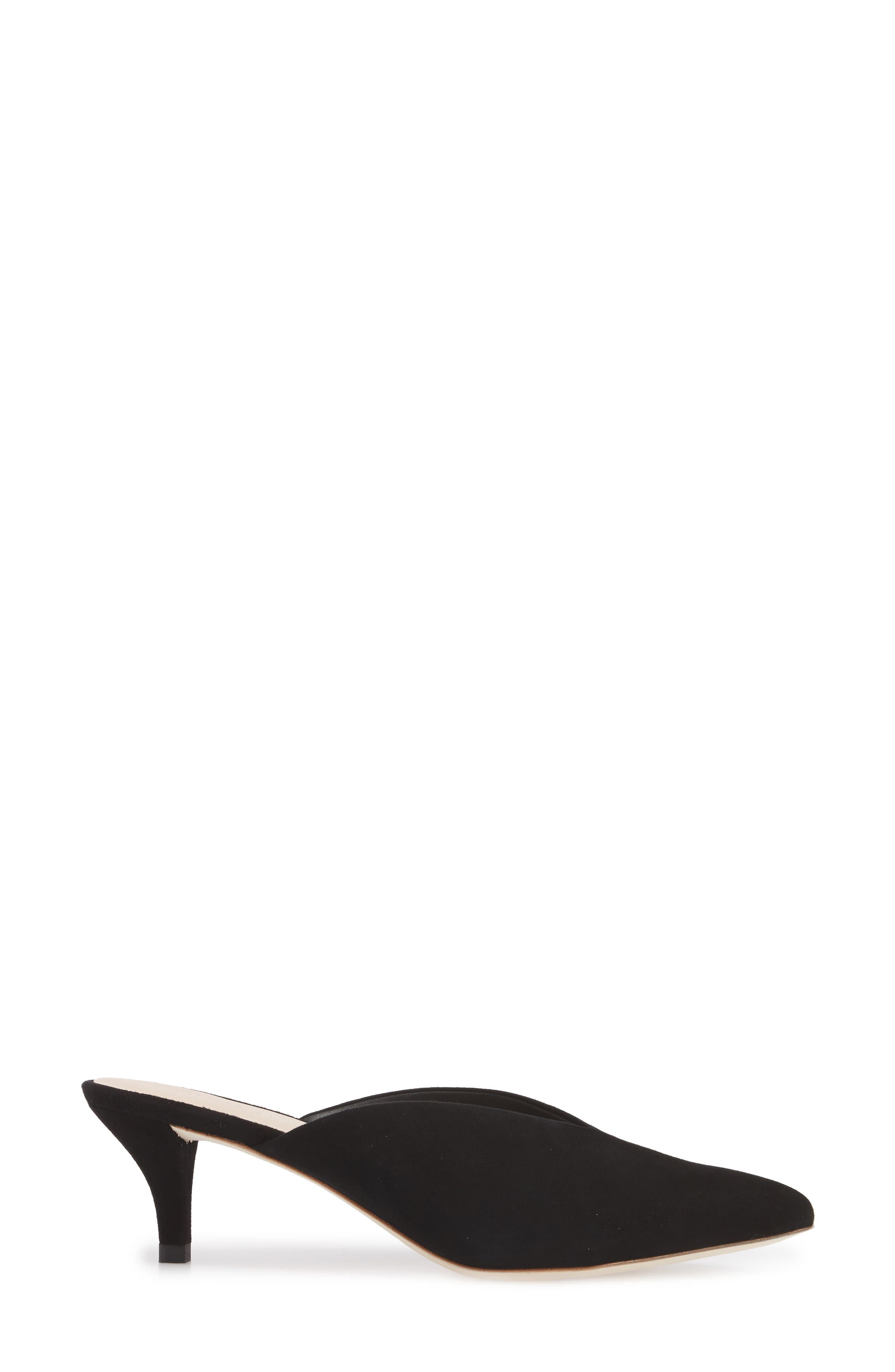Juno Mule,                             Alternate thumbnail 3, color,                             Black