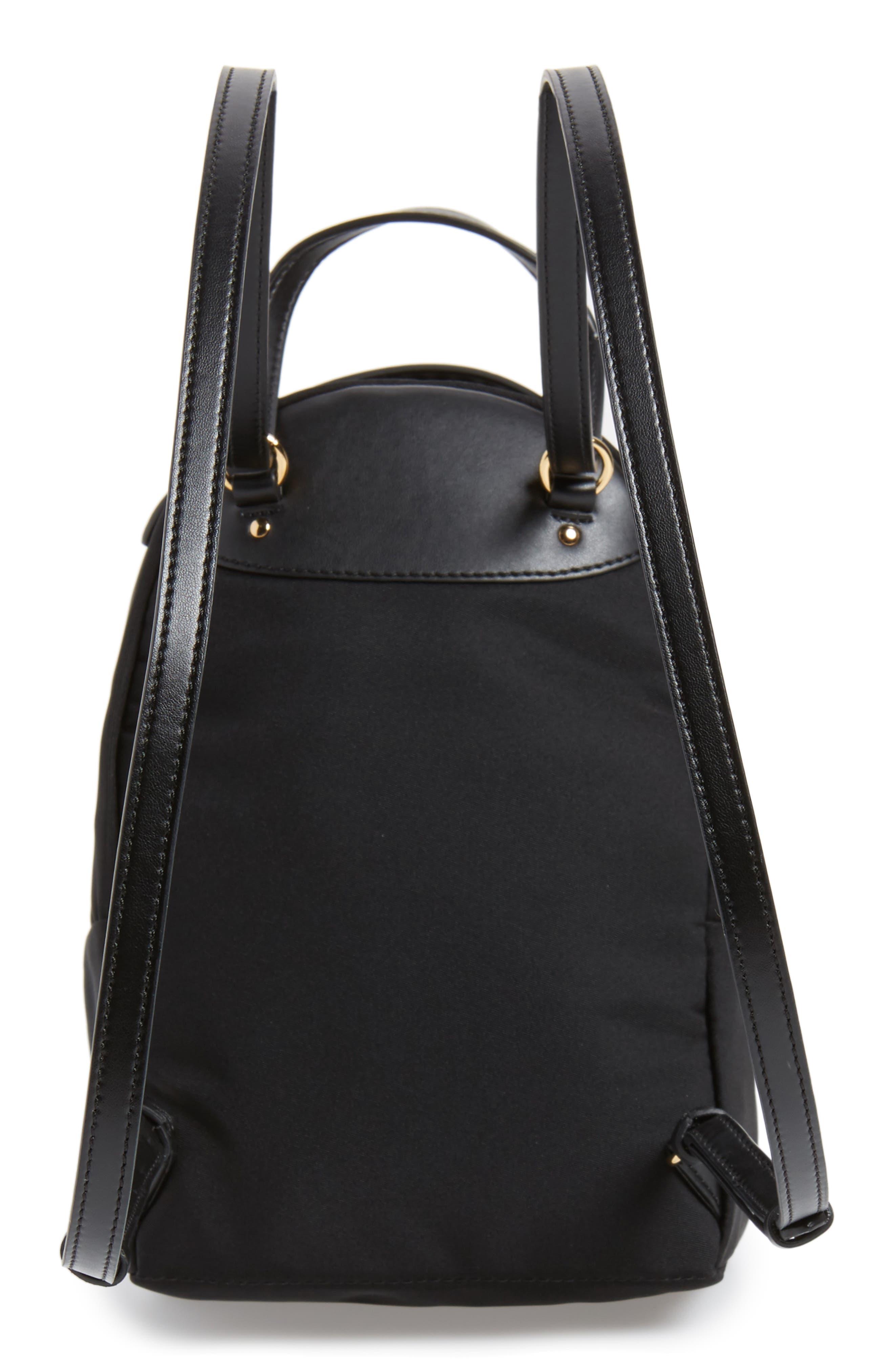 Mini Falabella Nylon Backpack,                             Alternate thumbnail 3, color,                             Black
