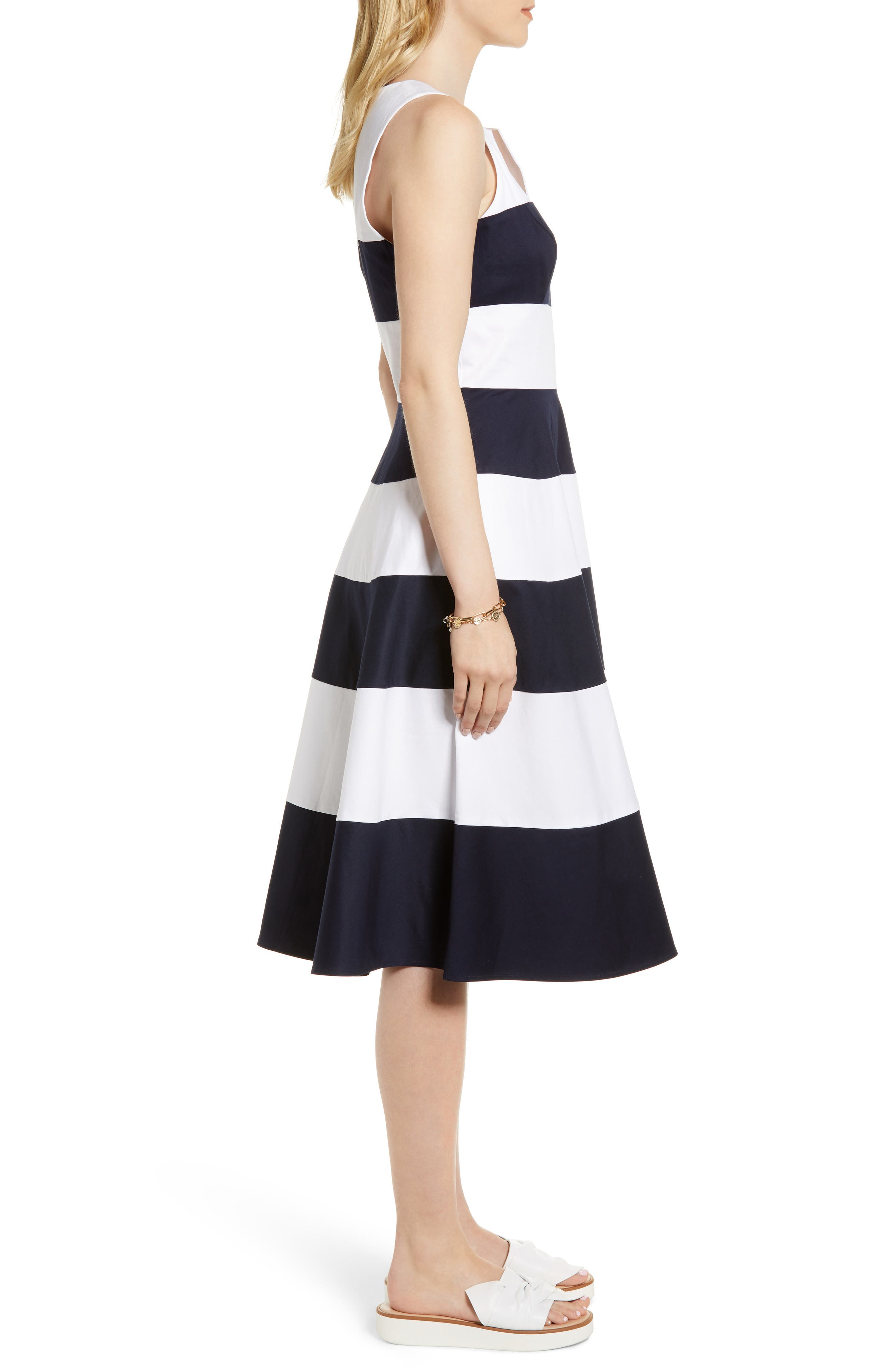 Alternate Image 3  - 1901 Stripe Fit & Flare Dress