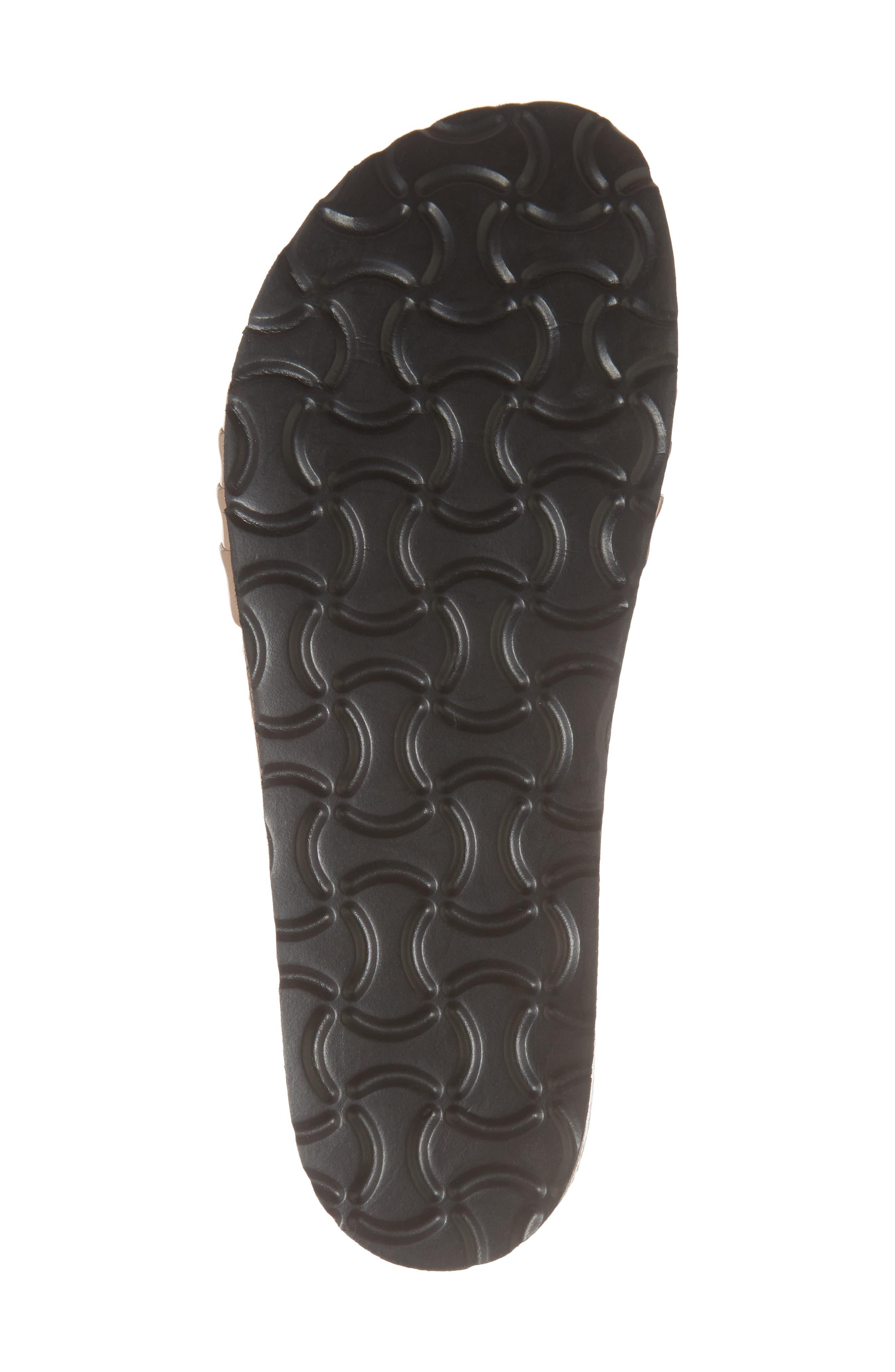 Santos Slide Sandal,                             Alternate thumbnail 6, color,                             Rose Gold Faux Leather
