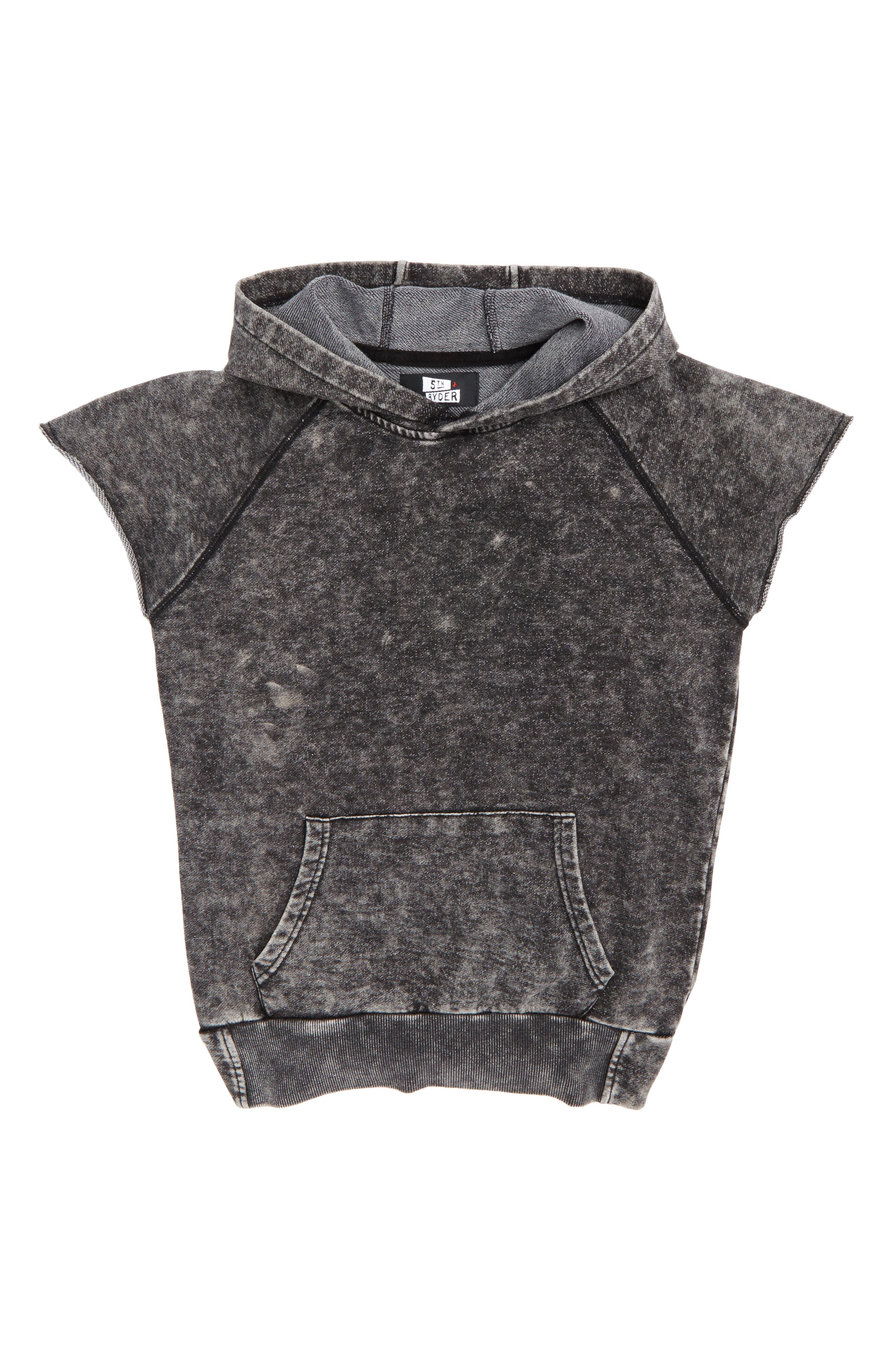 Alternate Image 1 Selected - 5th and Ryder Sleeveless Hoodie (Big Boys)