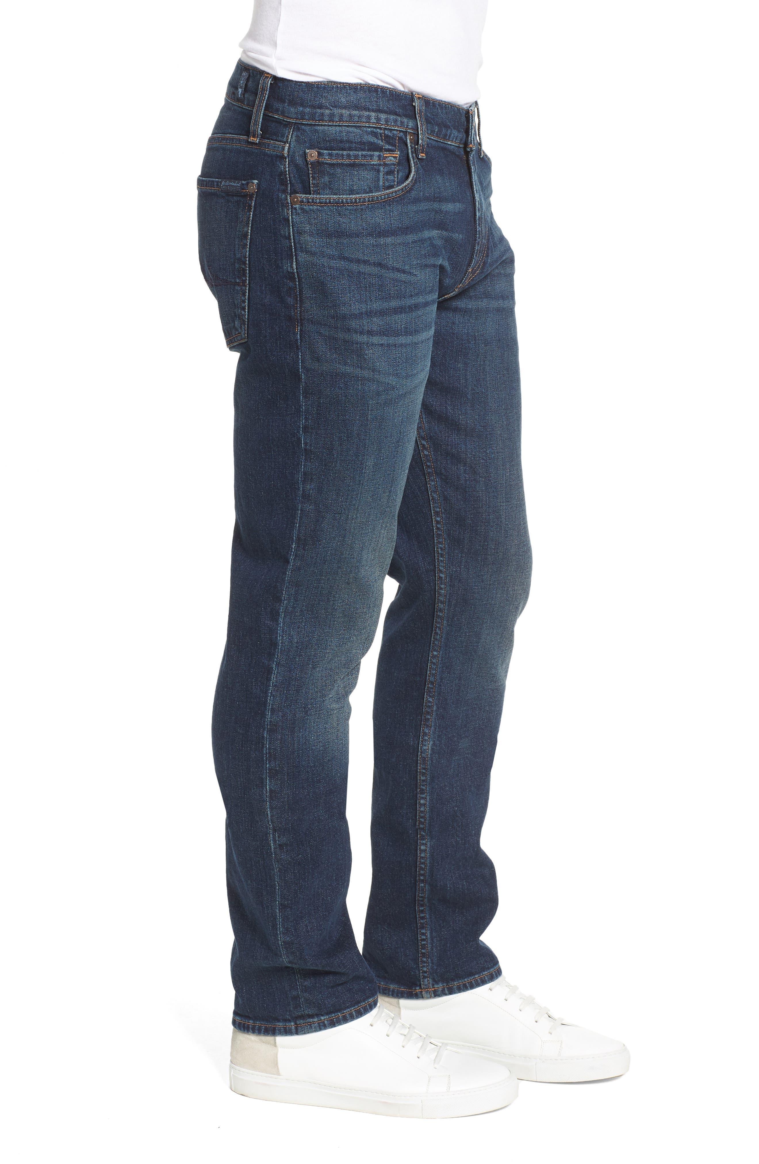 The Straight Slim Straight Leg Jeans,                             Alternate thumbnail 3, color,                             Mark Lane
