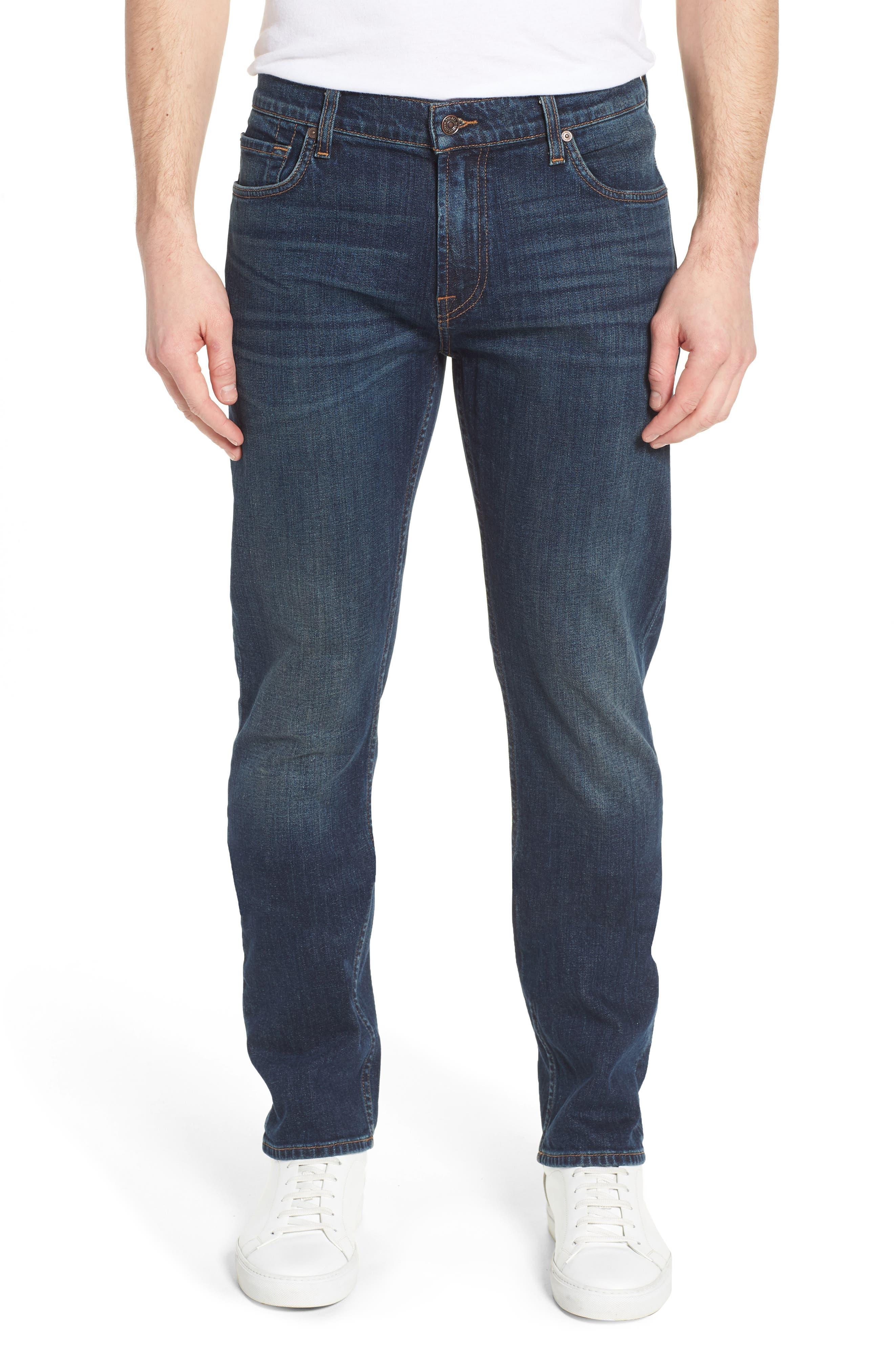 The Straight Slim Straight Leg Jeans,                         Main,                         color, Mark Lane