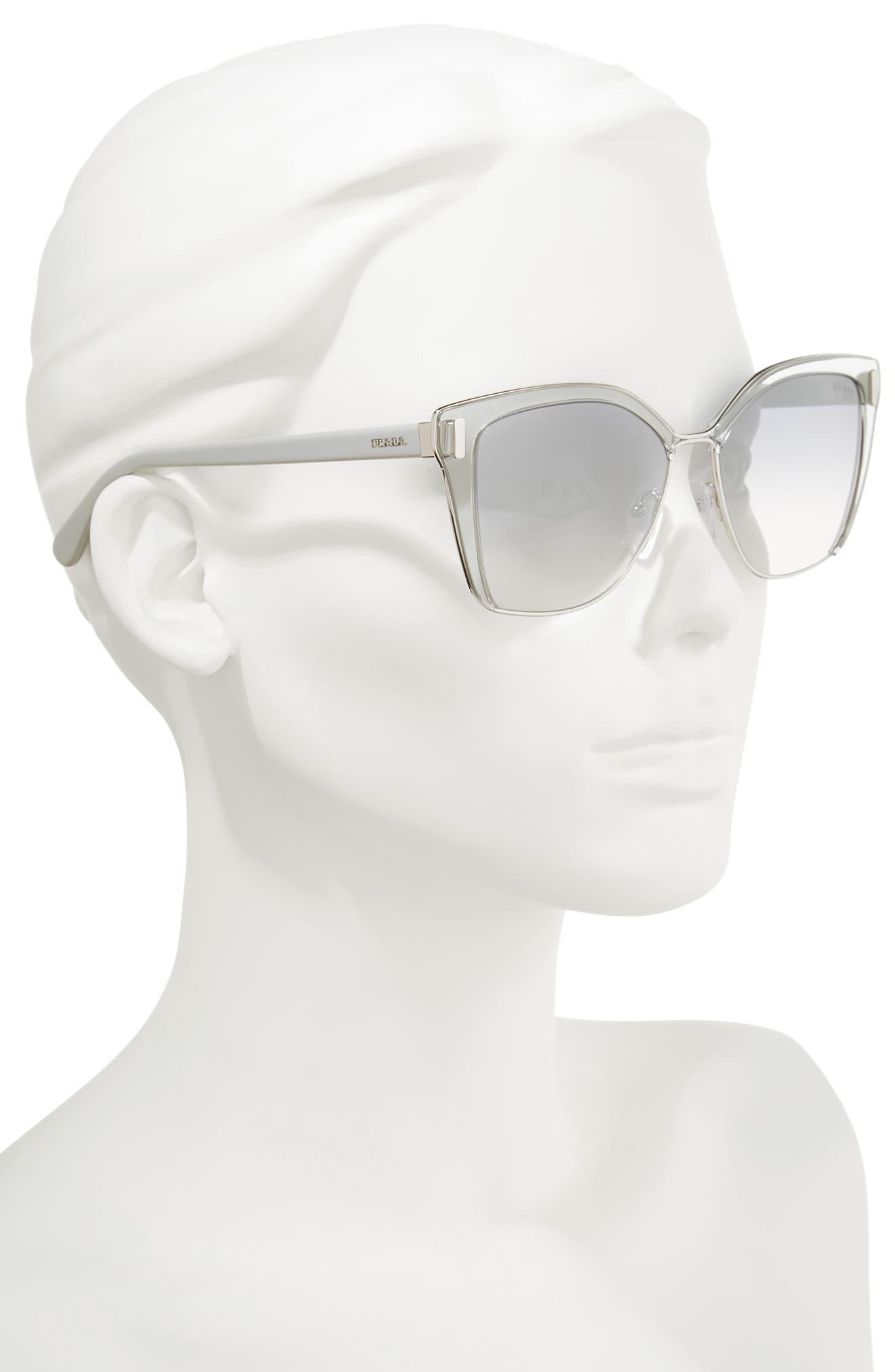 Alternate Image 2  - Prada 54mm Gradient Geometric Sunglasses