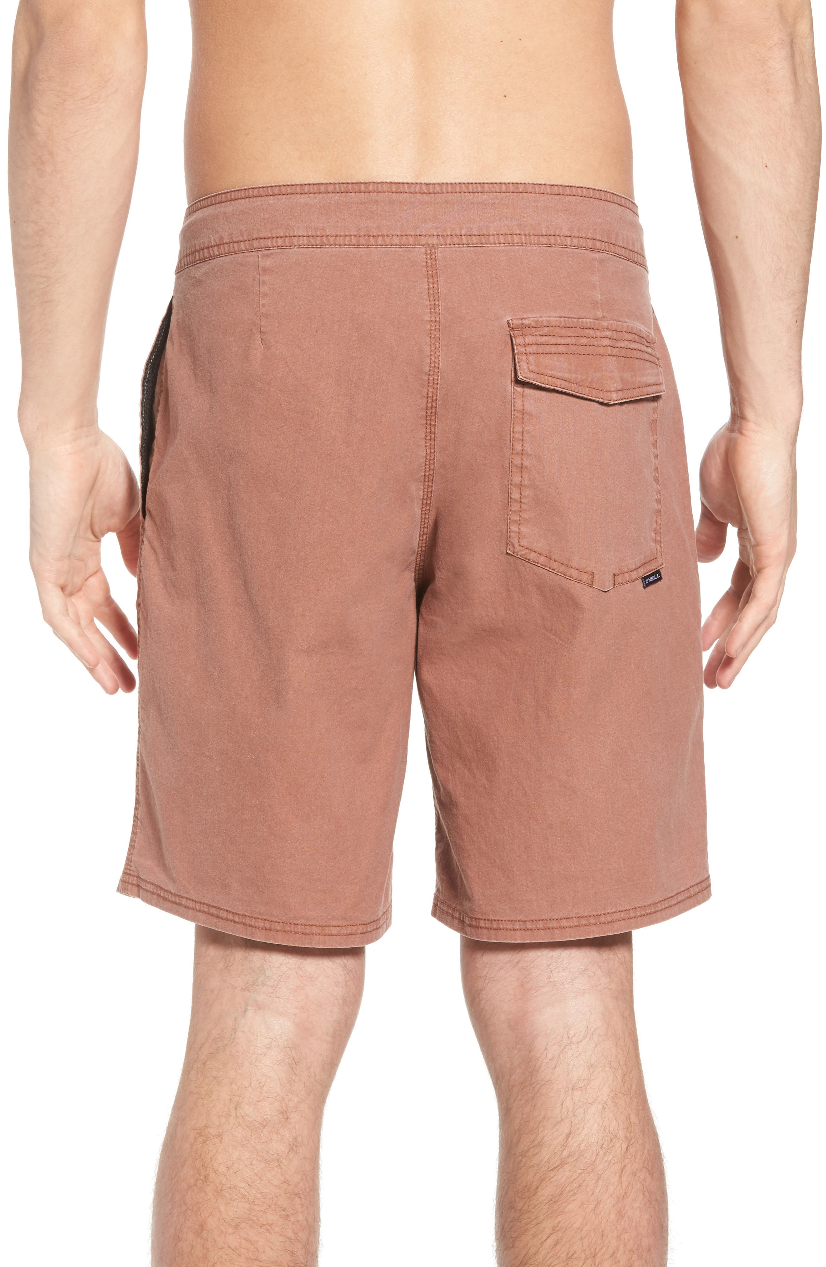 Faded Cruzer Board Shorts,                             Alternate thumbnail 2, color,                             Russet