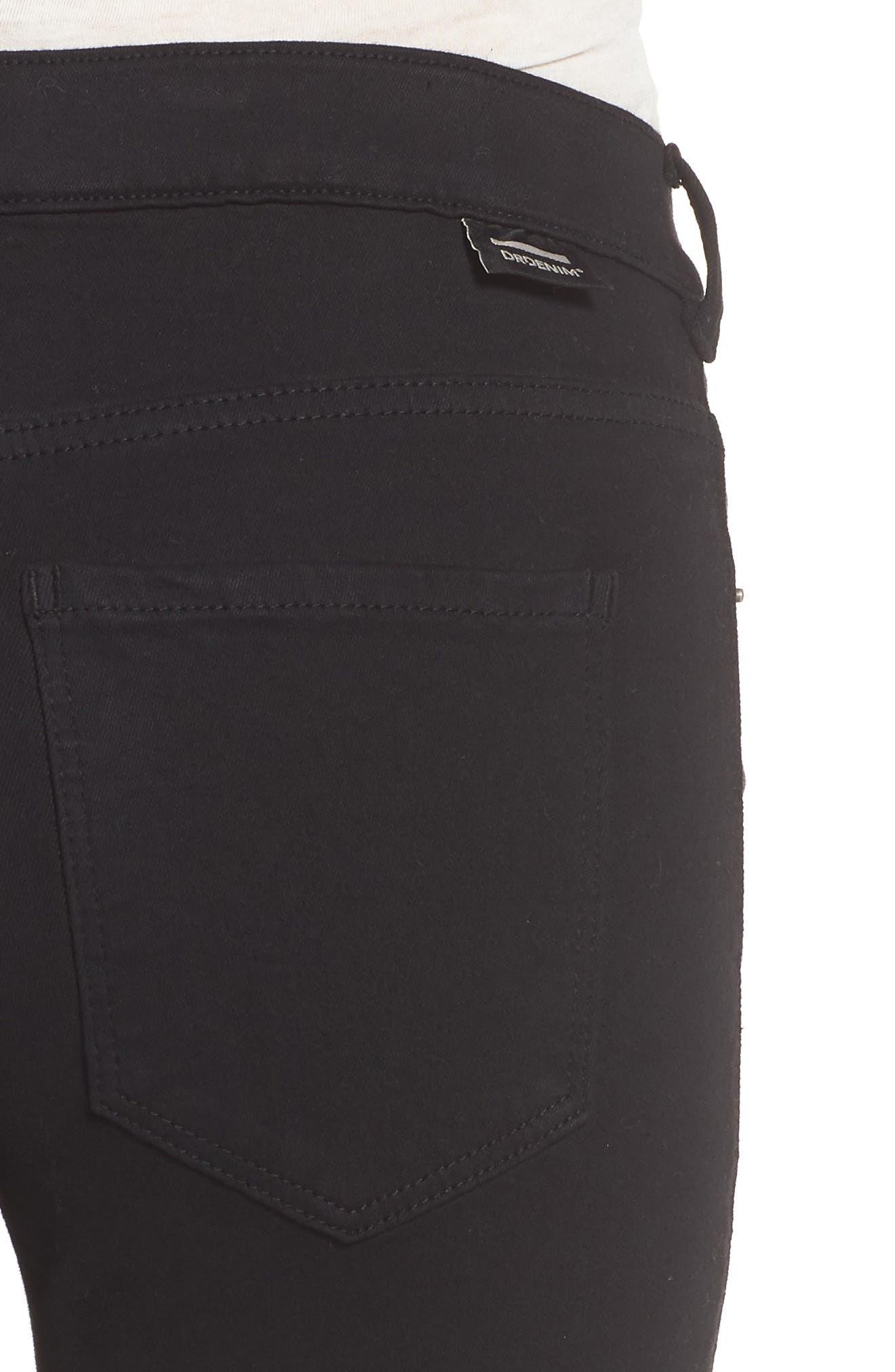 Lexy Skinny Jeans,                             Alternate thumbnail 4, color,                             Black