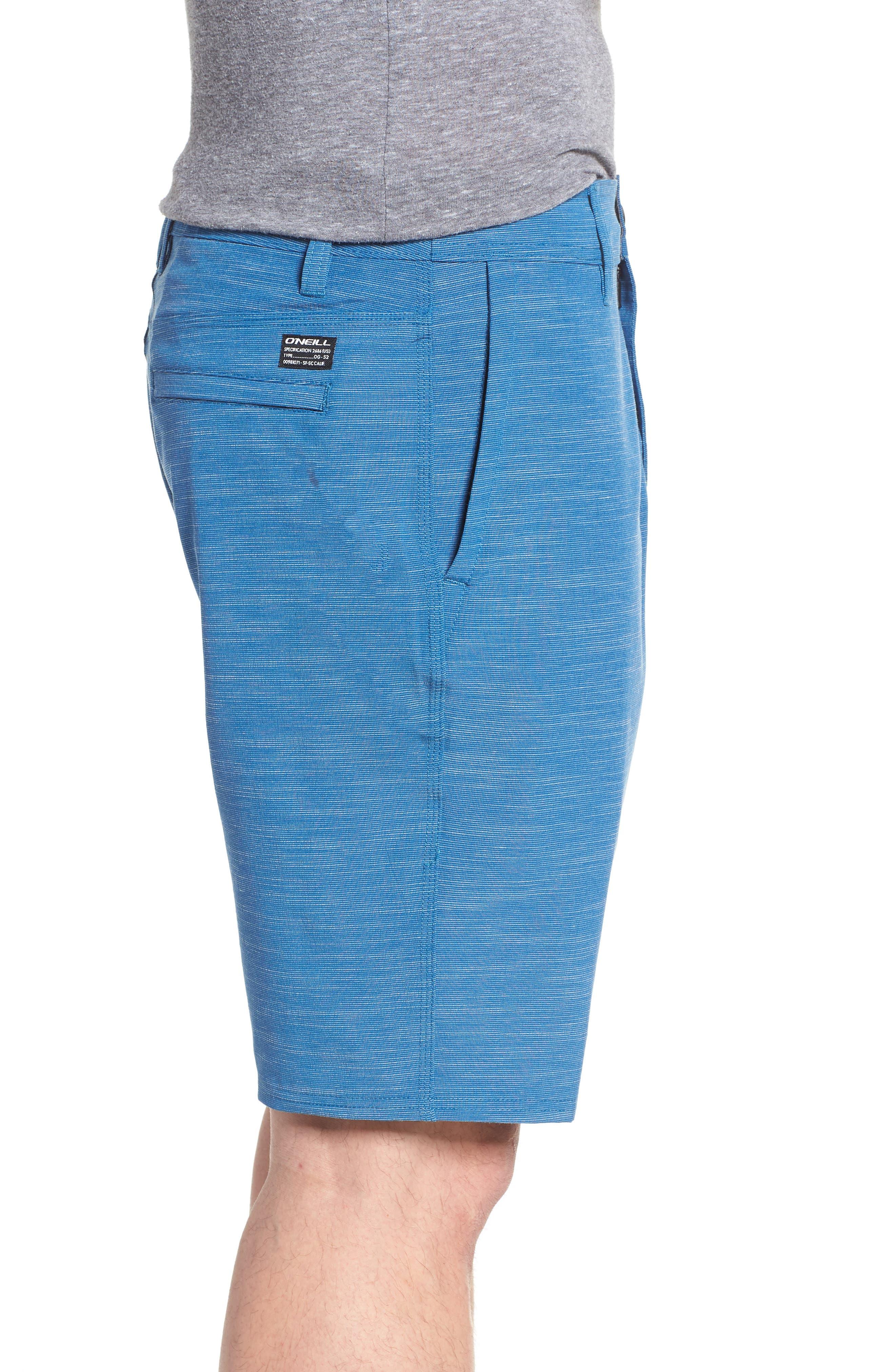 Locked Slub Hybrid Shorts,                             Alternate thumbnail 3, color,                             Air Force Blue