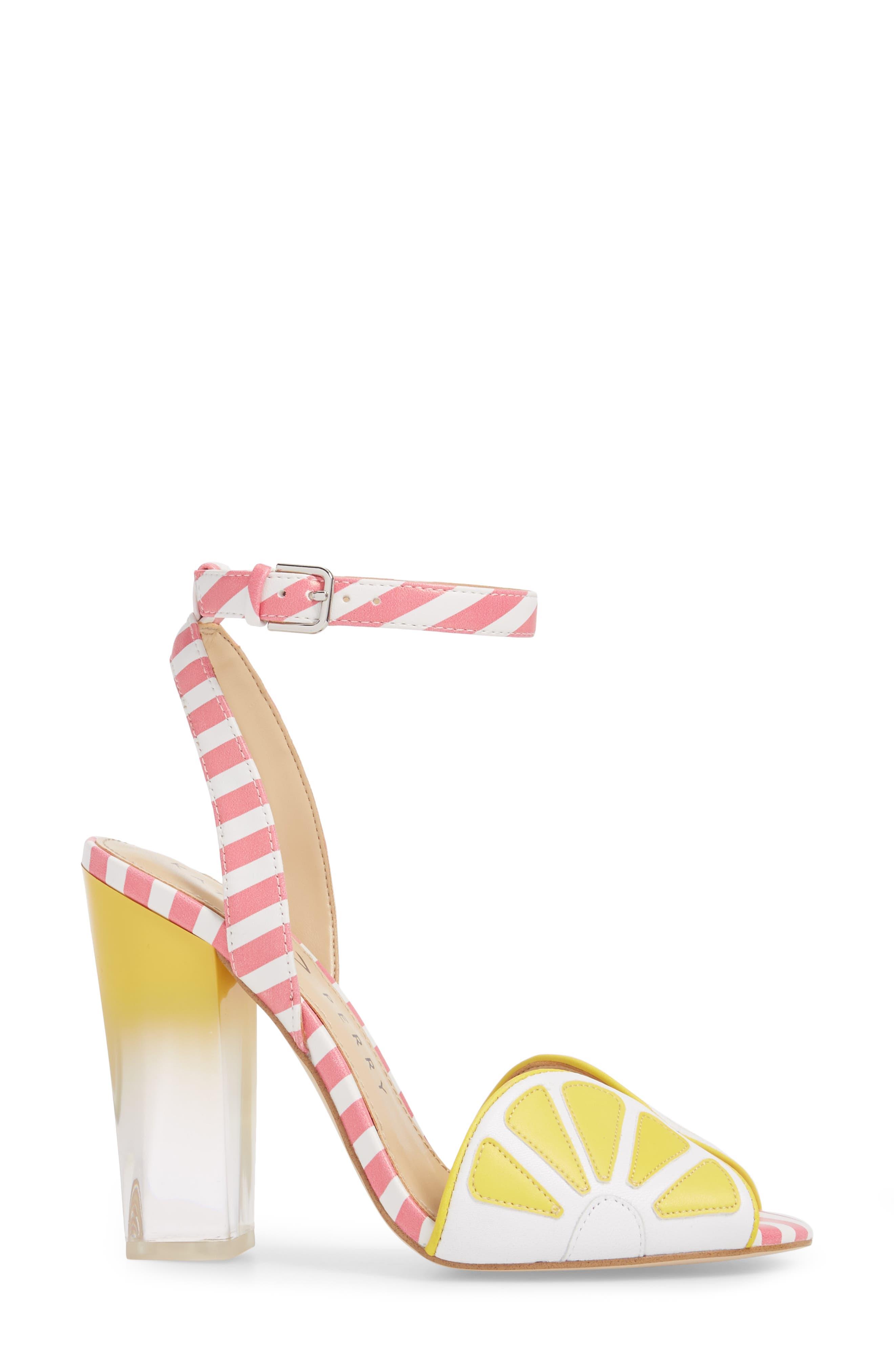 The Citron Sandal,                             Alternate thumbnail 3, color,                             Yellow/ White Leather