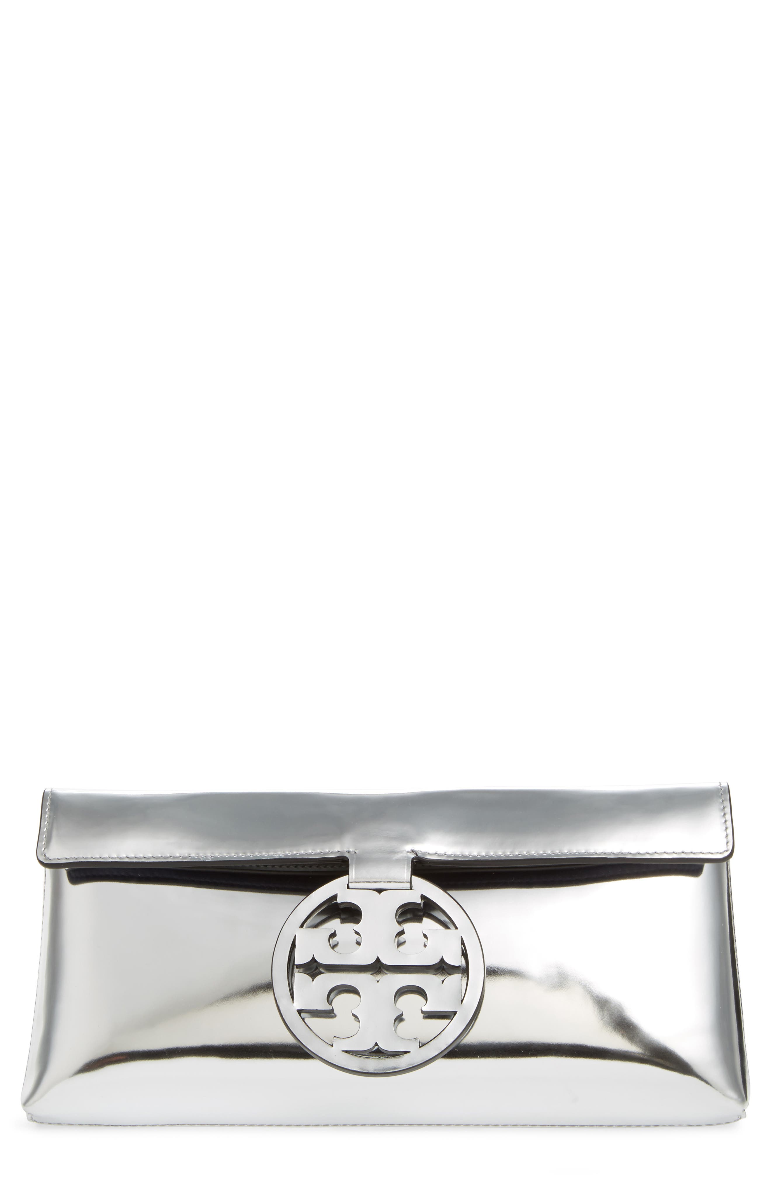 Tory Burch Miller Mirror Leather Clutch