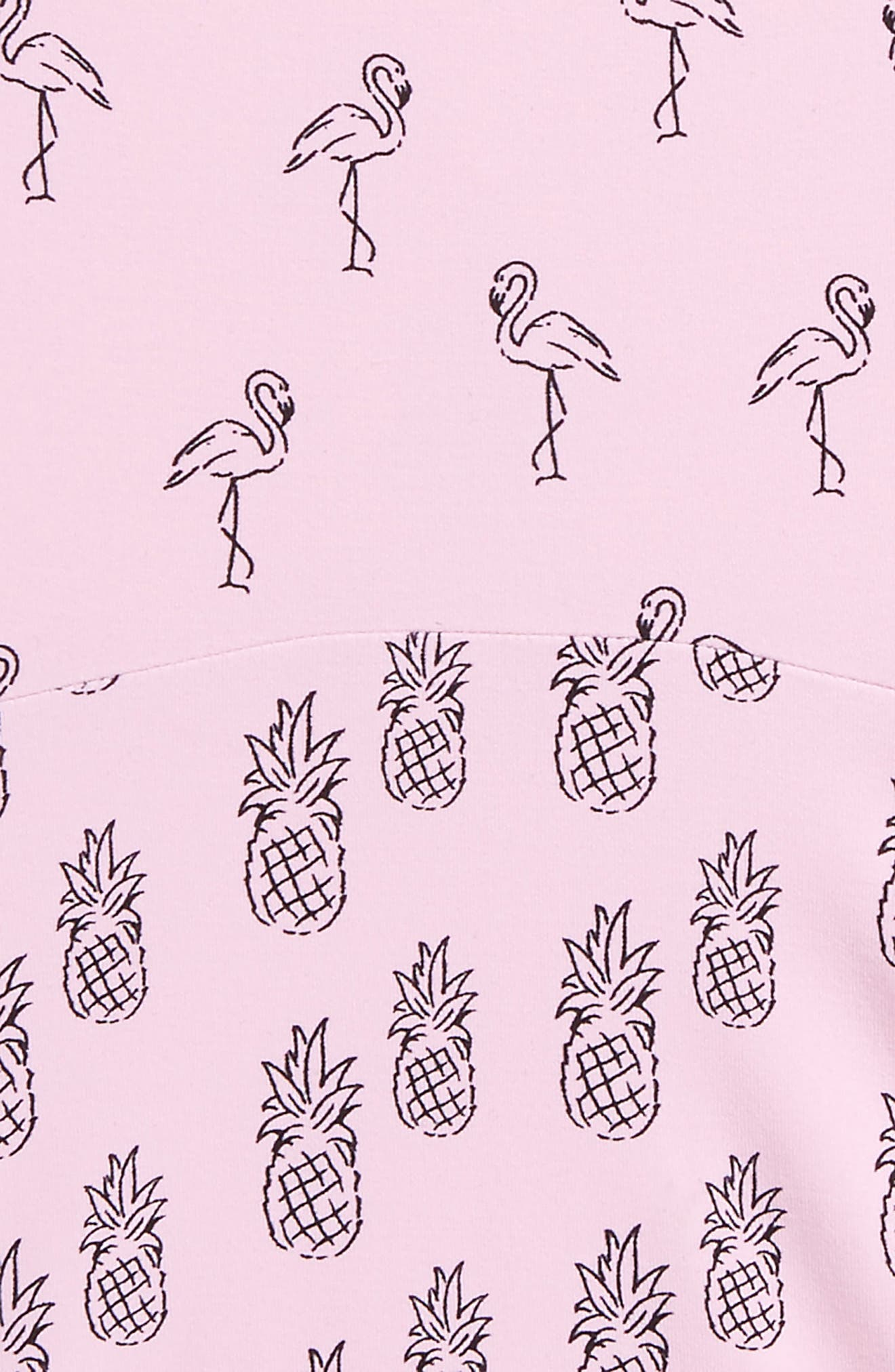 Flamingo One-Piece Swimsuit,                             Alternate thumbnail 3, color,                             Pink Lavender