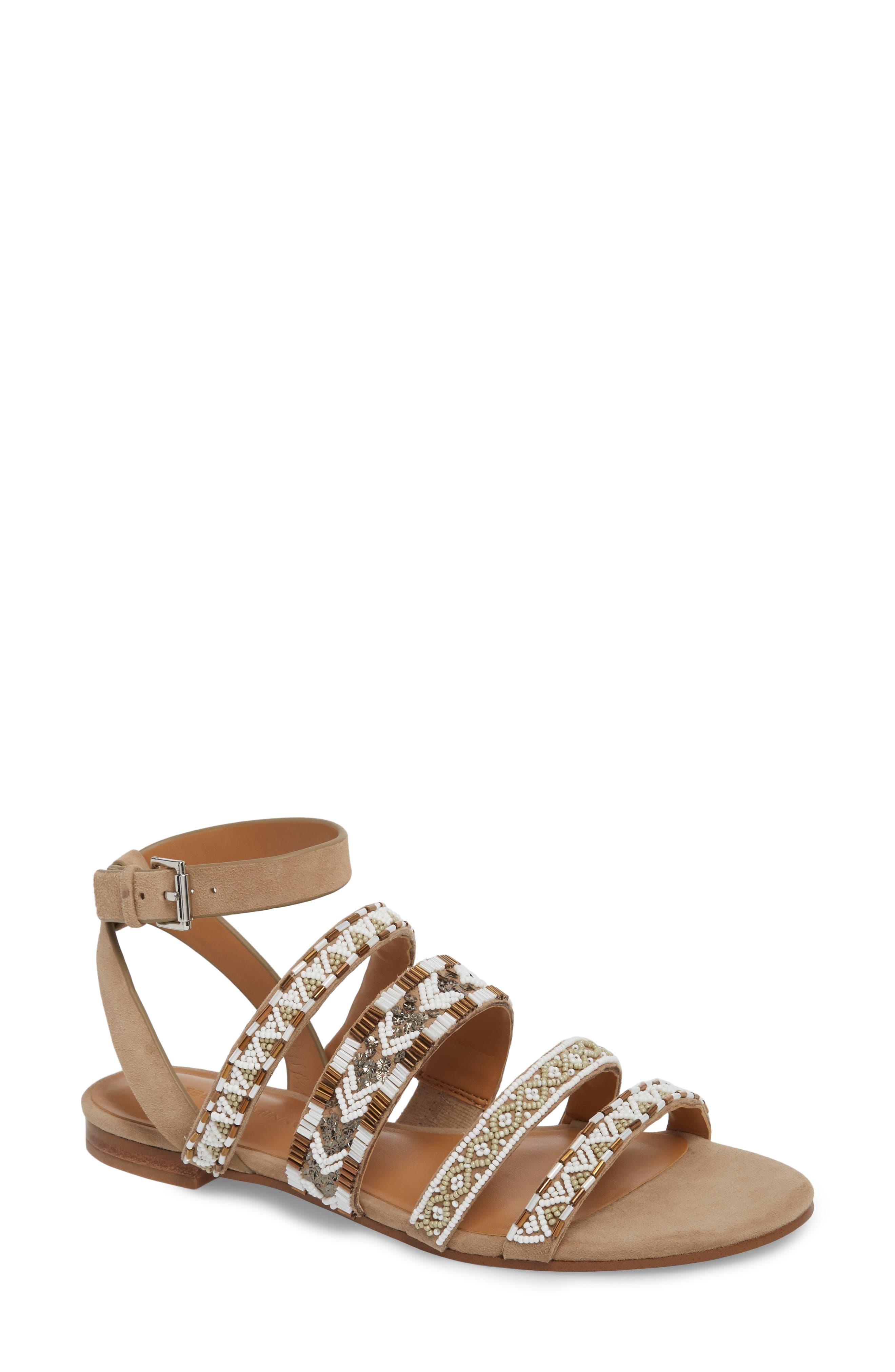 Leila Strappy Sandal,                         Main,                         color, Aztec Multi Suede