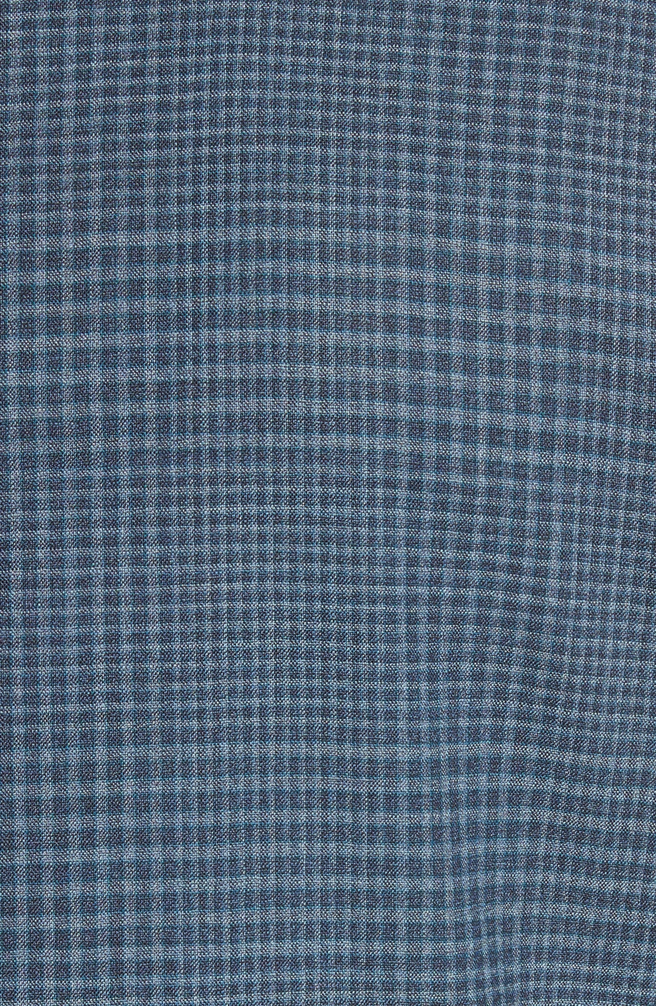 Kei Classic Fit Plaid Wool Sport Coat,                             Alternate thumbnail 5, color,                             Navy