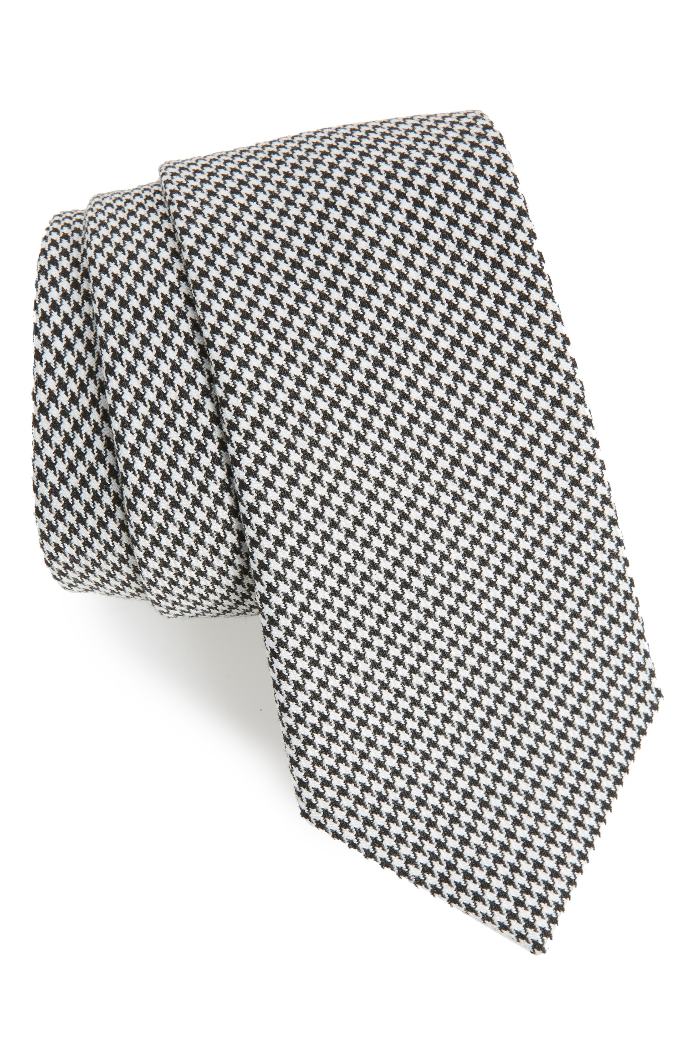 Topman Houndstooth Woven Tie