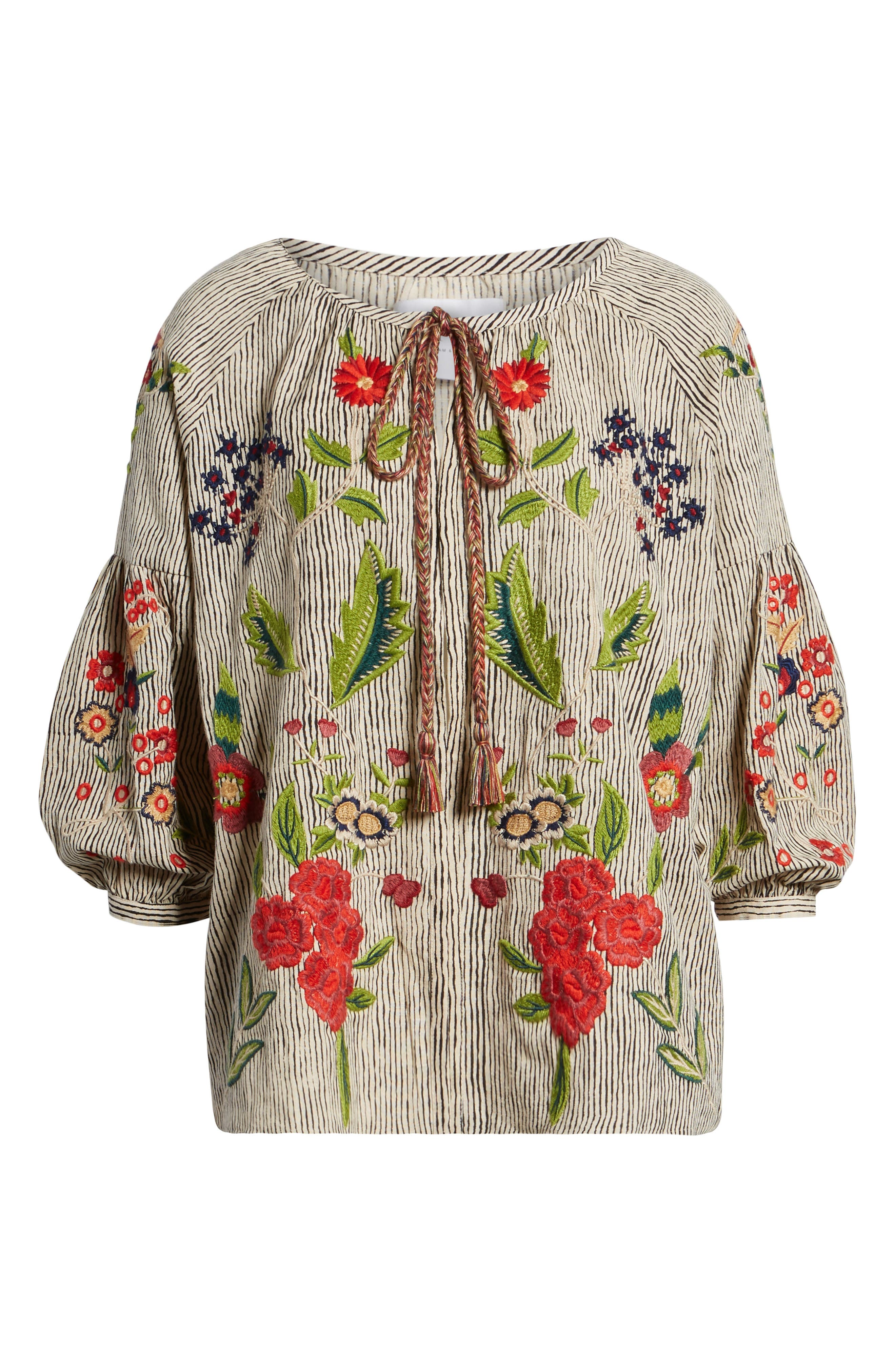 Embroidered Stripe Jacket,                             Alternate thumbnail 7, color,                             Multi