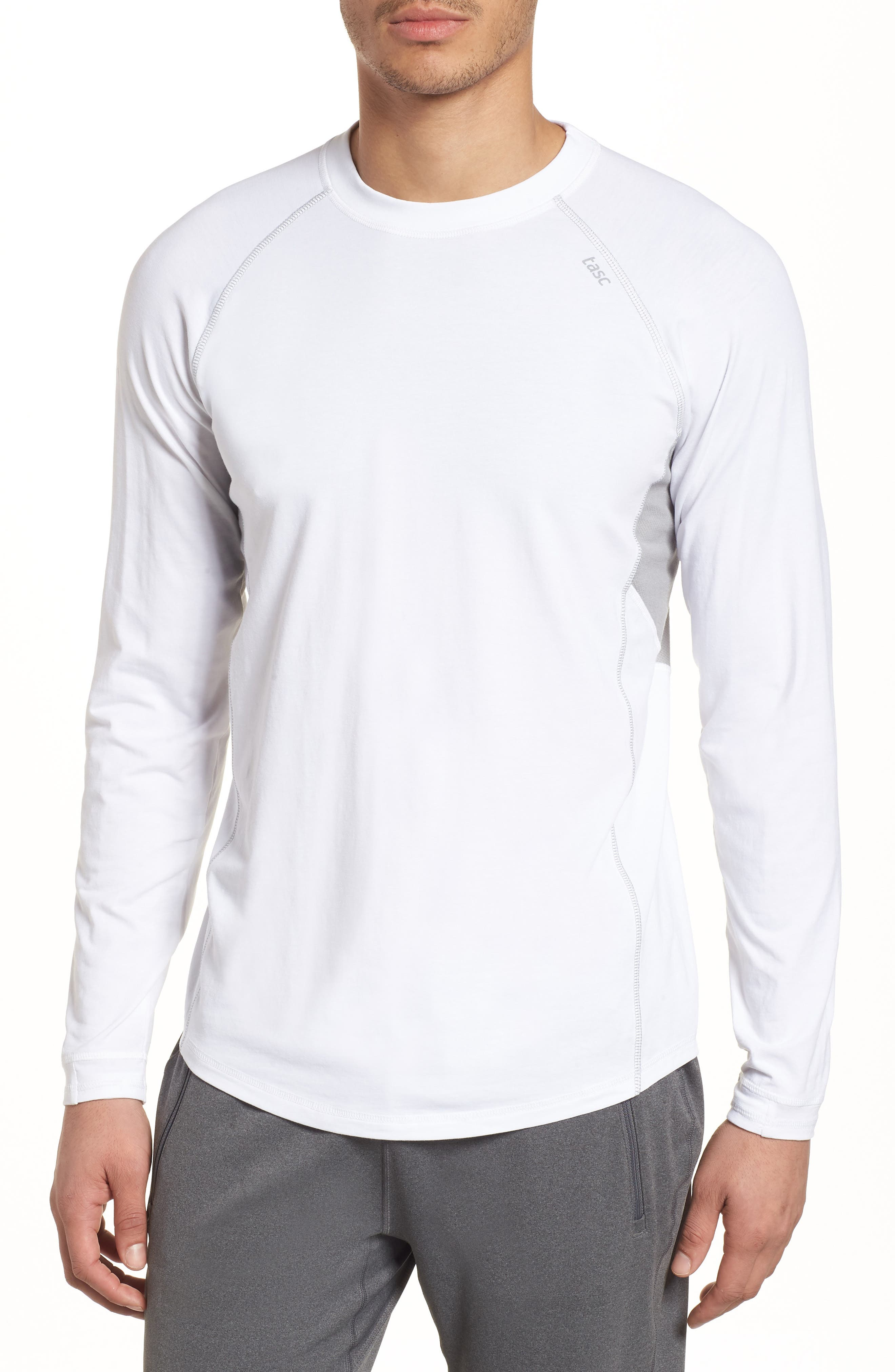 Charge II Long Sleeve T-Shirt,                             Main thumbnail 1, color,                             White