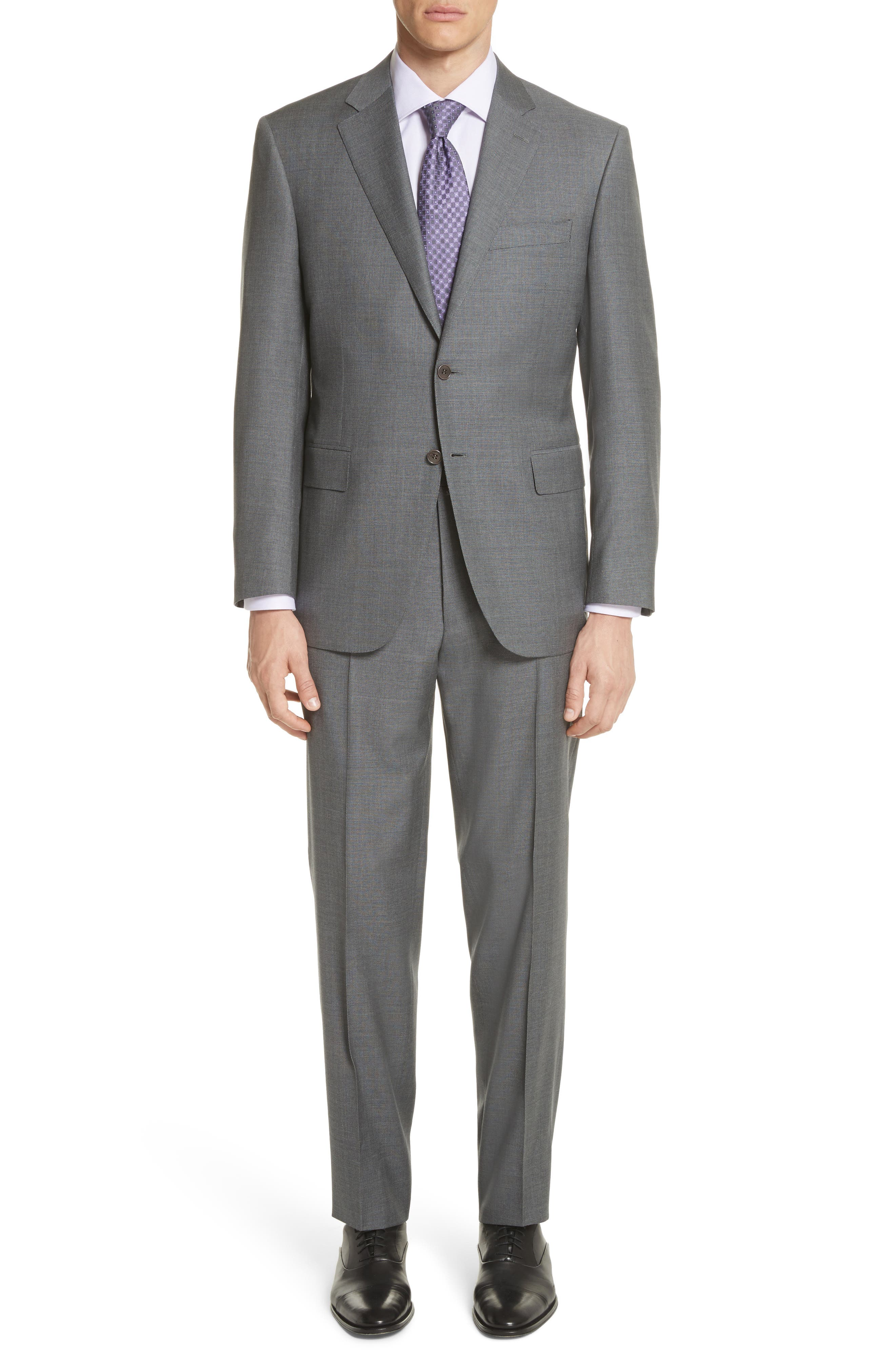 Classic Fit Wool Suit,                             Main thumbnail 1, color,                             Grey